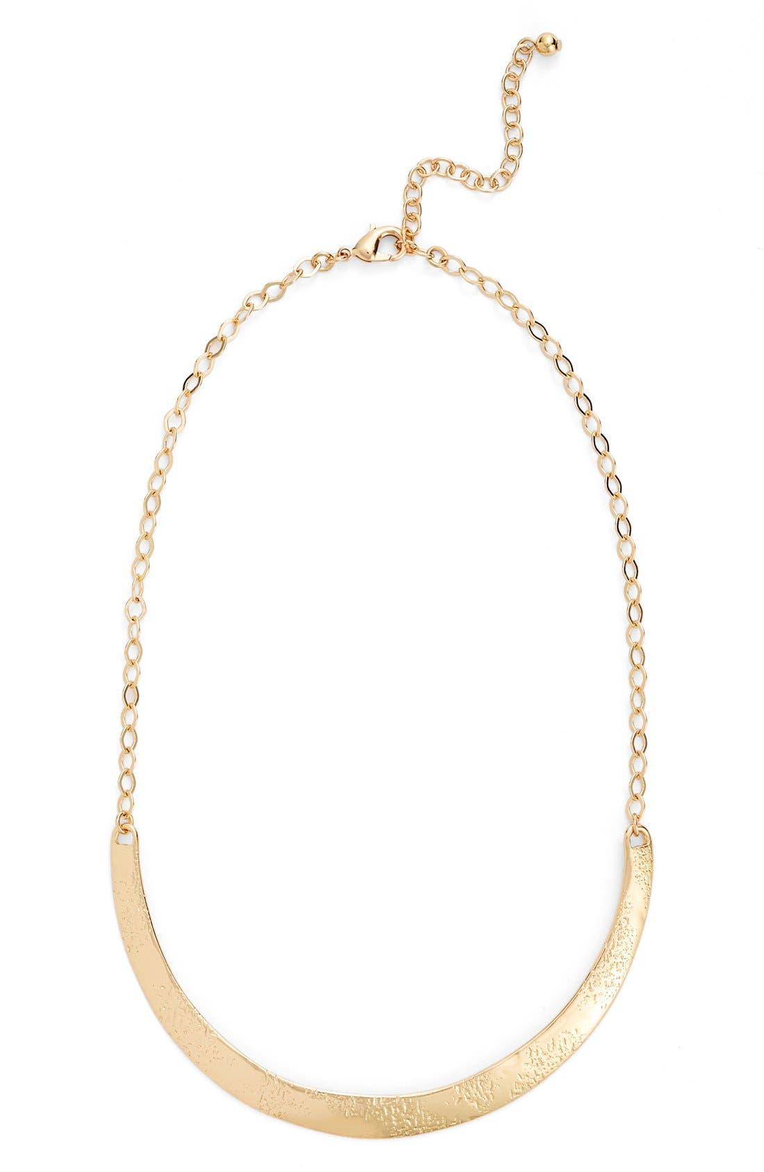 Alternate Image 1 Selected - Nordstrom Curve Bar Collar Necklace