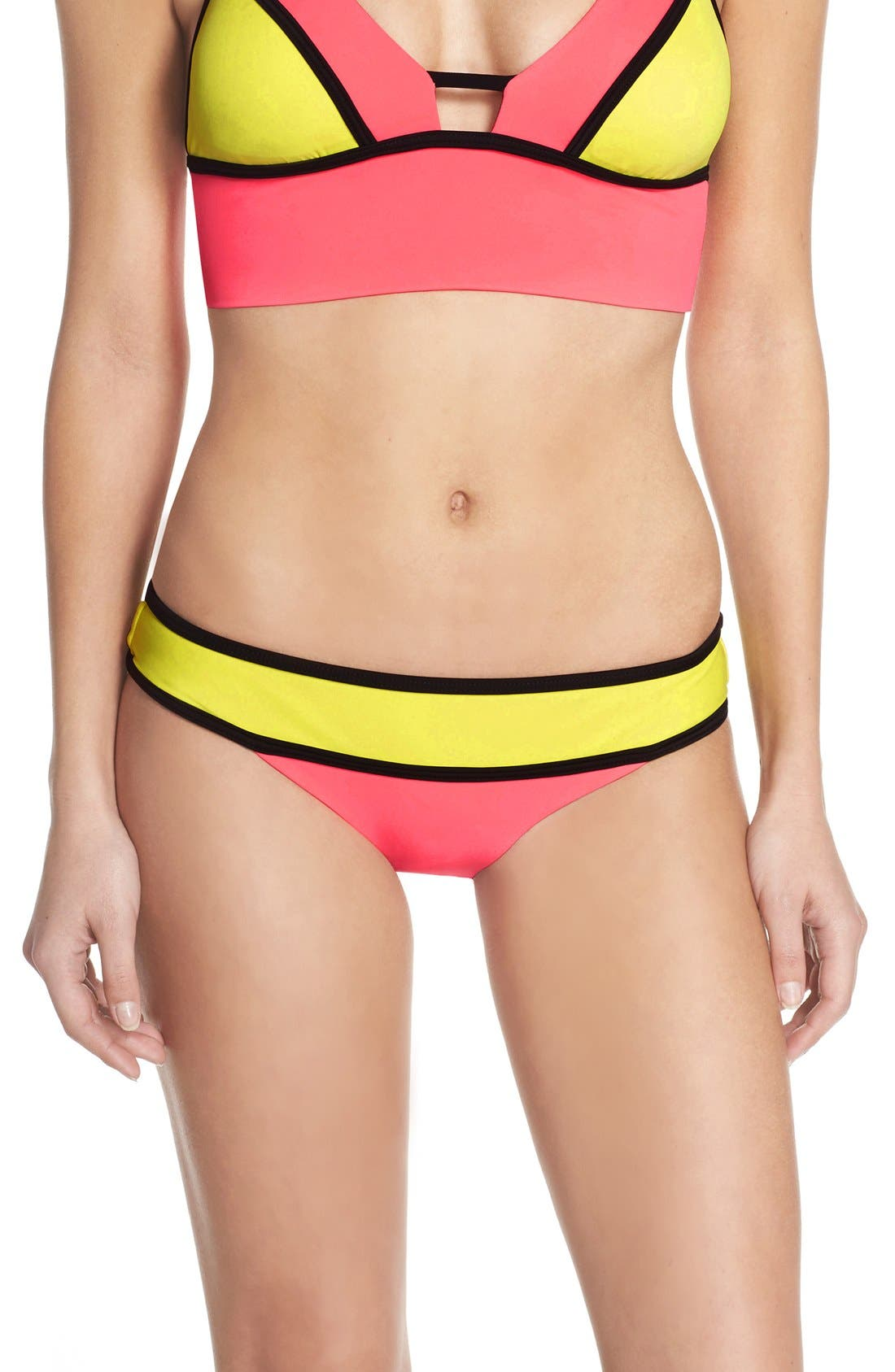 Main Image - BCA Colorblock Bikini Bottoms