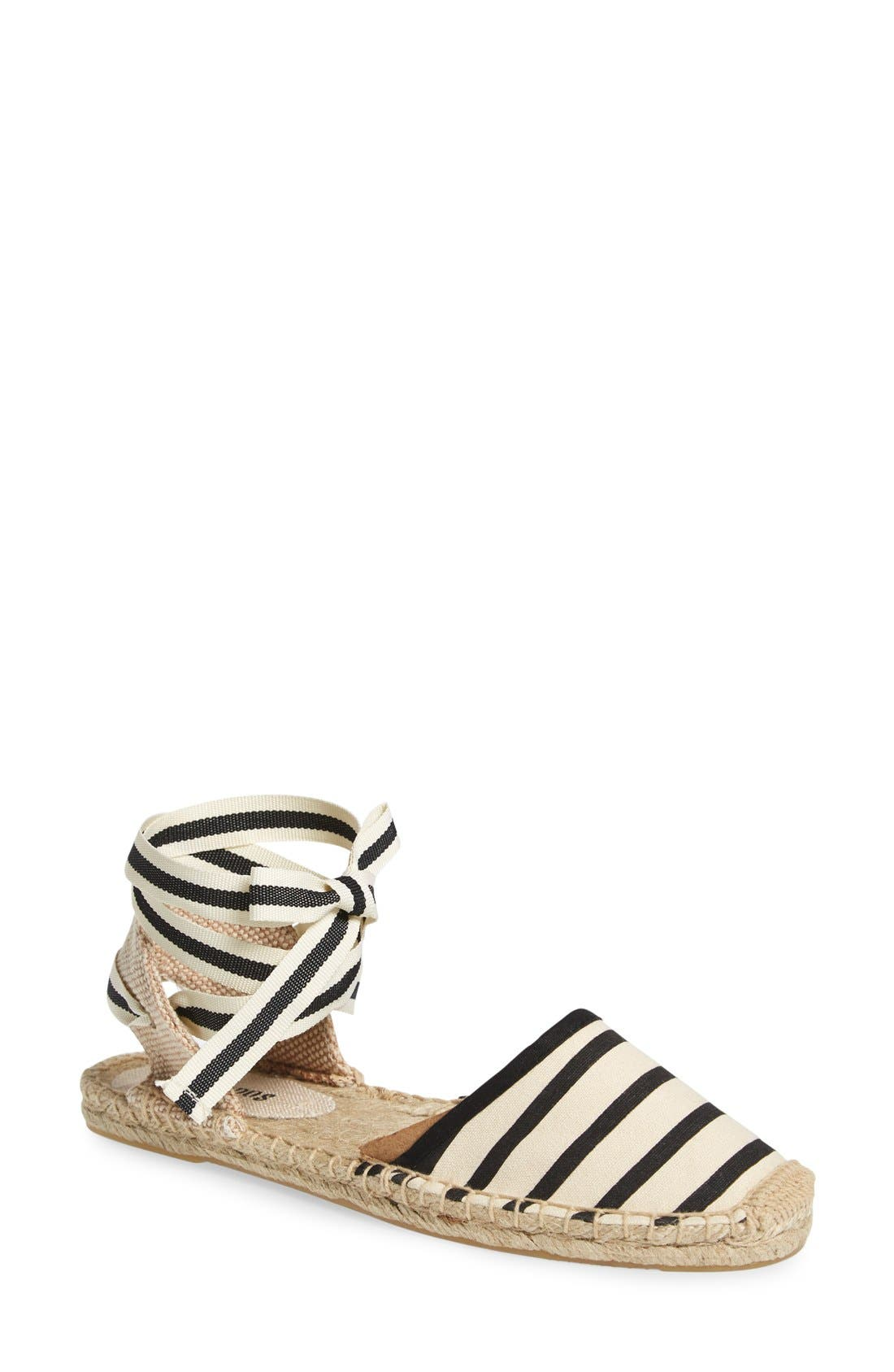 Alternate Image 1 Selected - Soludos Lace-Up Espadrille Sandal (Women)