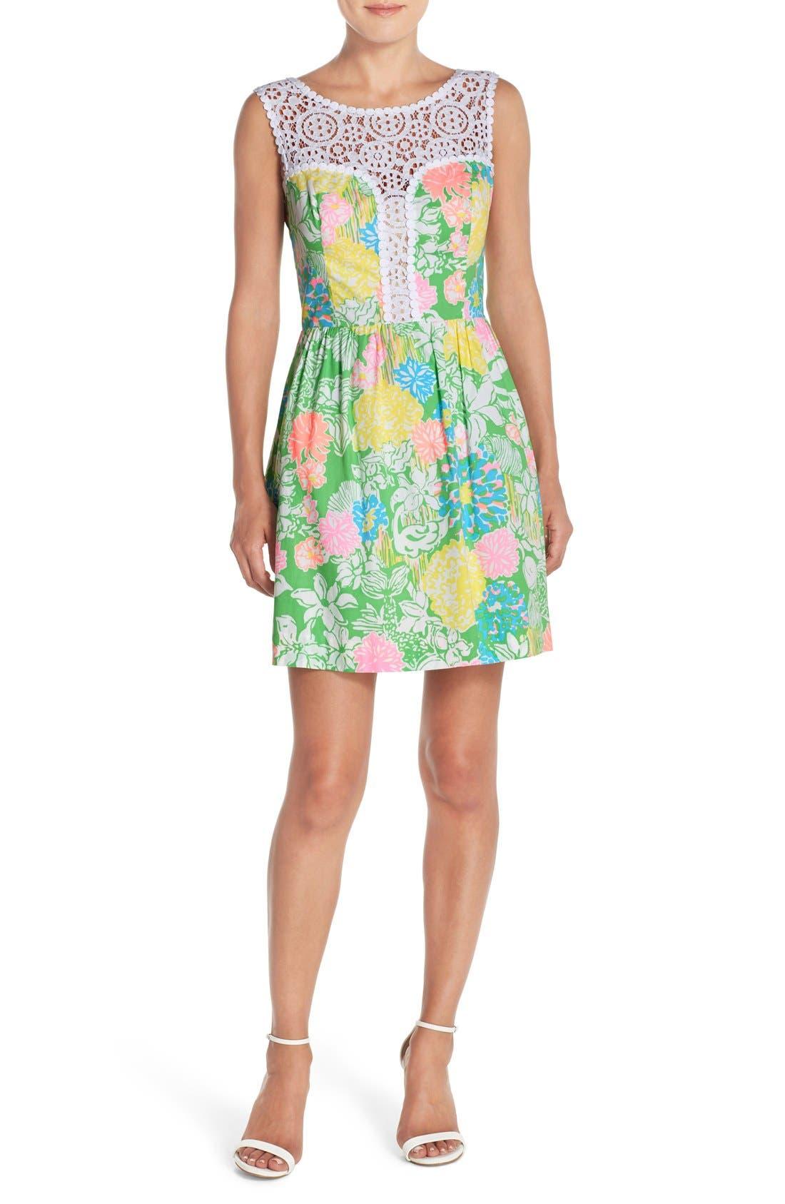 Alternate Image 4  - Lilly Pulitzer® 'Raegan' Cotton Fit & Flare Dress