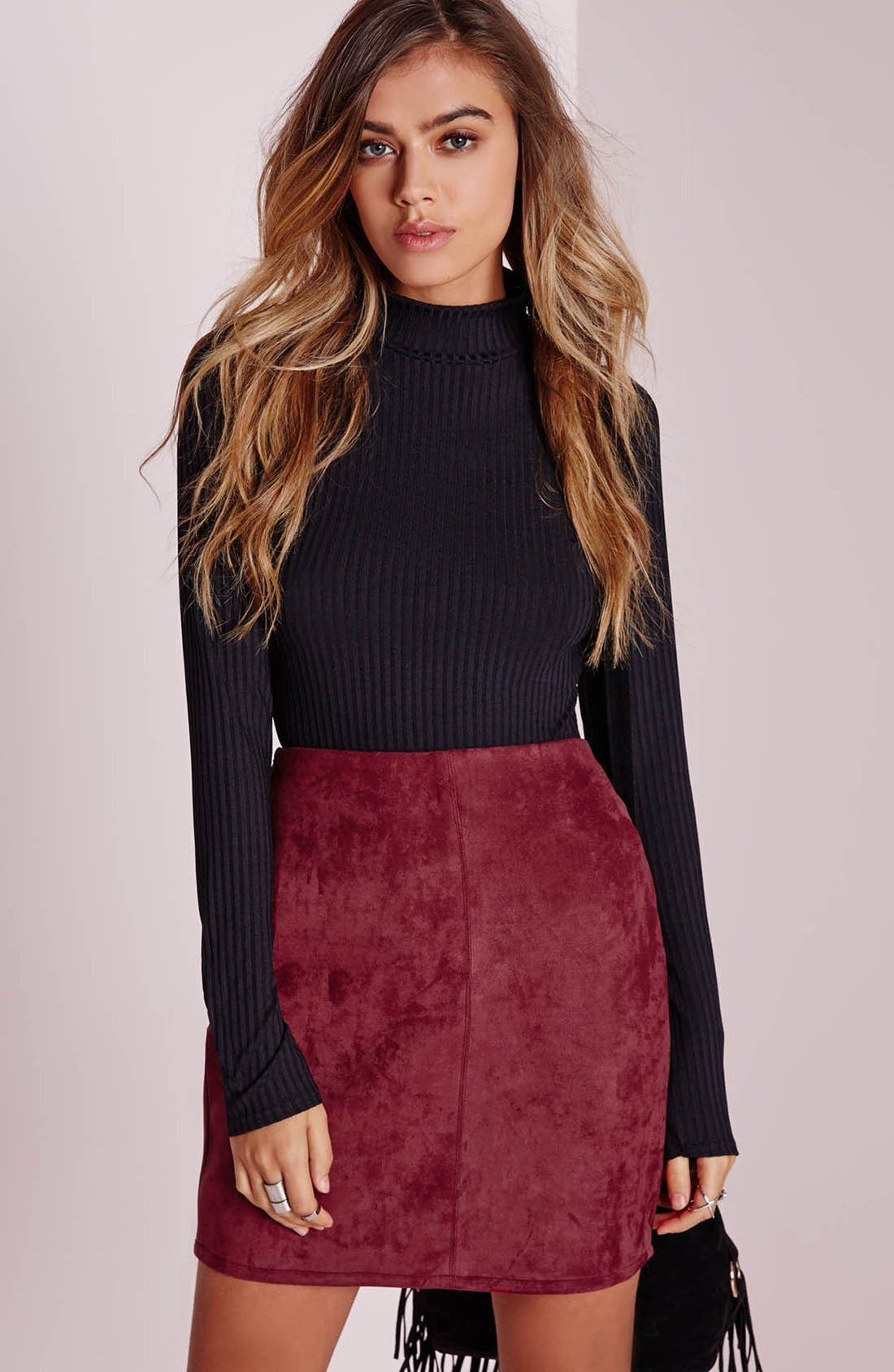 Alternate Image 7  - Missguided Faux Suede Miniskirt