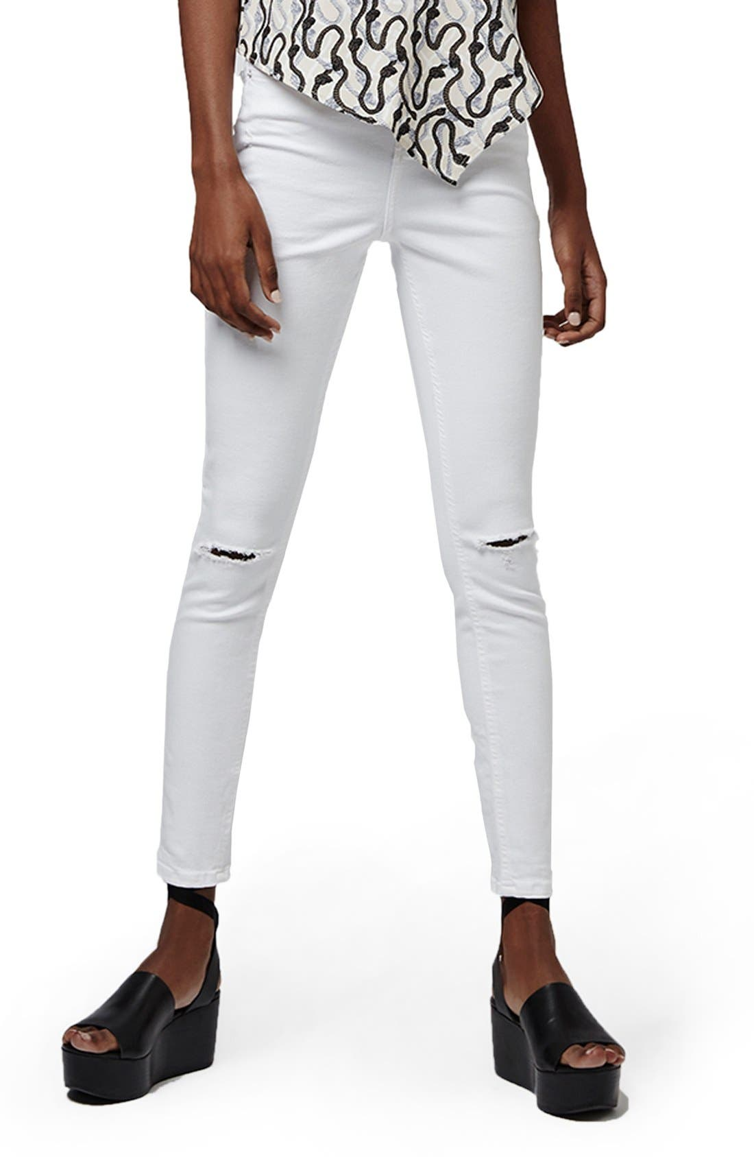 Alternate Image 3  - Topshop 'Jamie' Ripped High Rise Ankle Skinny Jeans