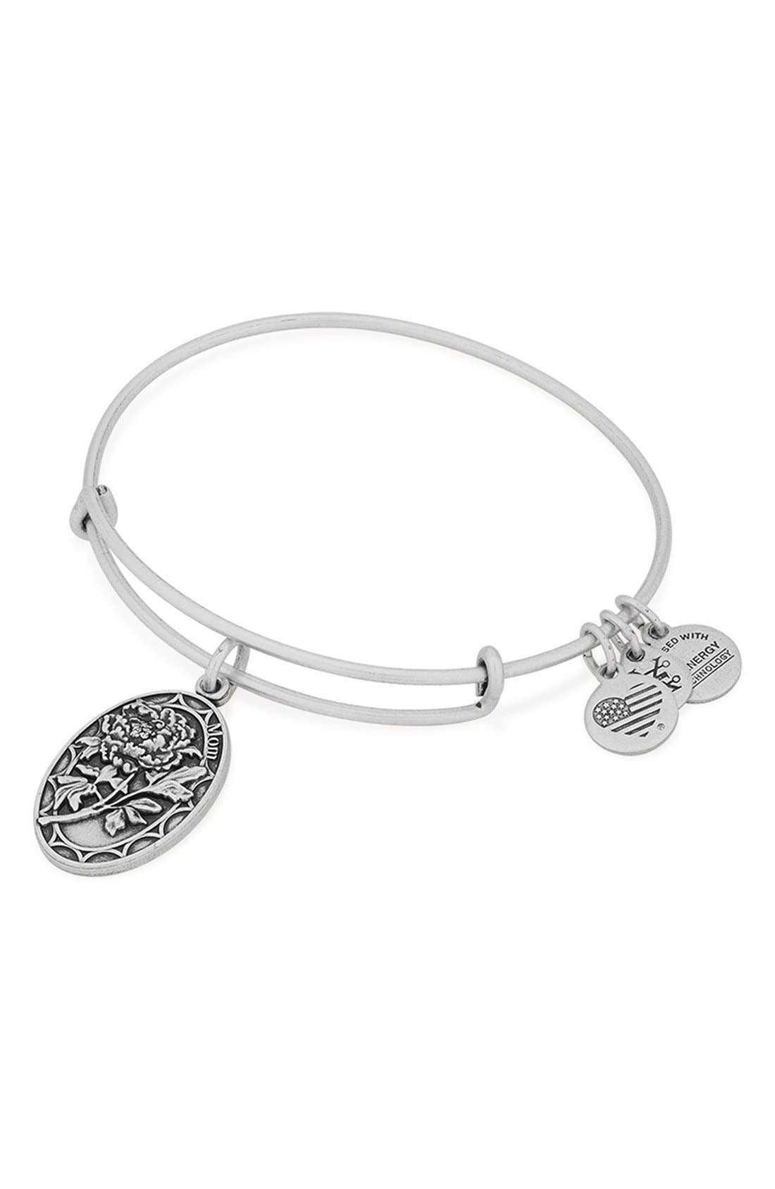 Alternate Image 2  - Alex and Ani 'I Love You Mom' Expandable Wire Bangle