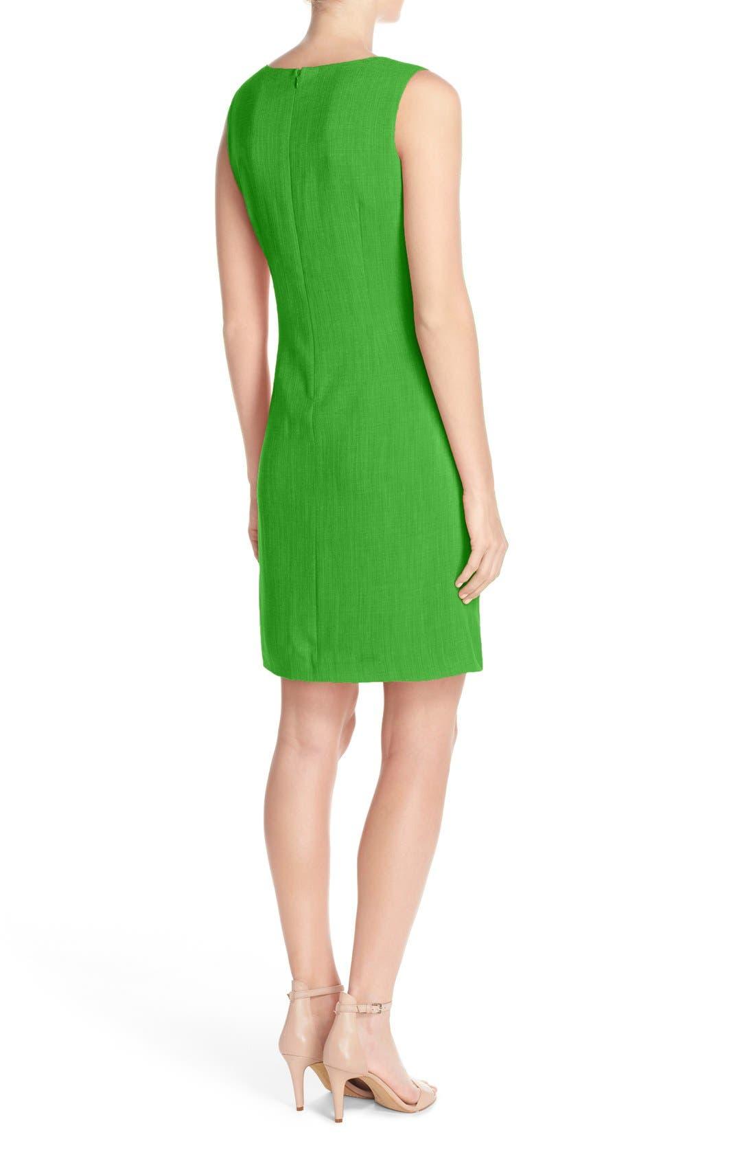 Alternate Image 2  - Ellen Tracy Seam Sheath Dress (Regular & Petite)