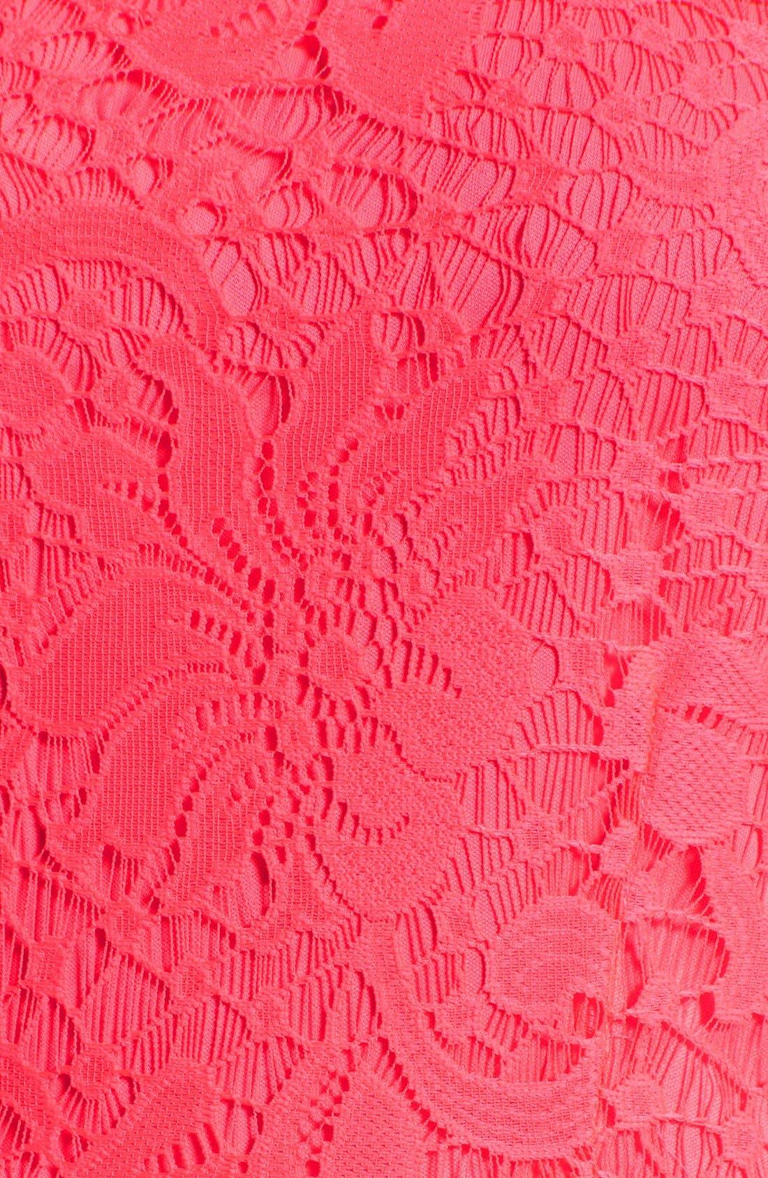 Alternate Image 5  - Speechless Lace Skater Dress
