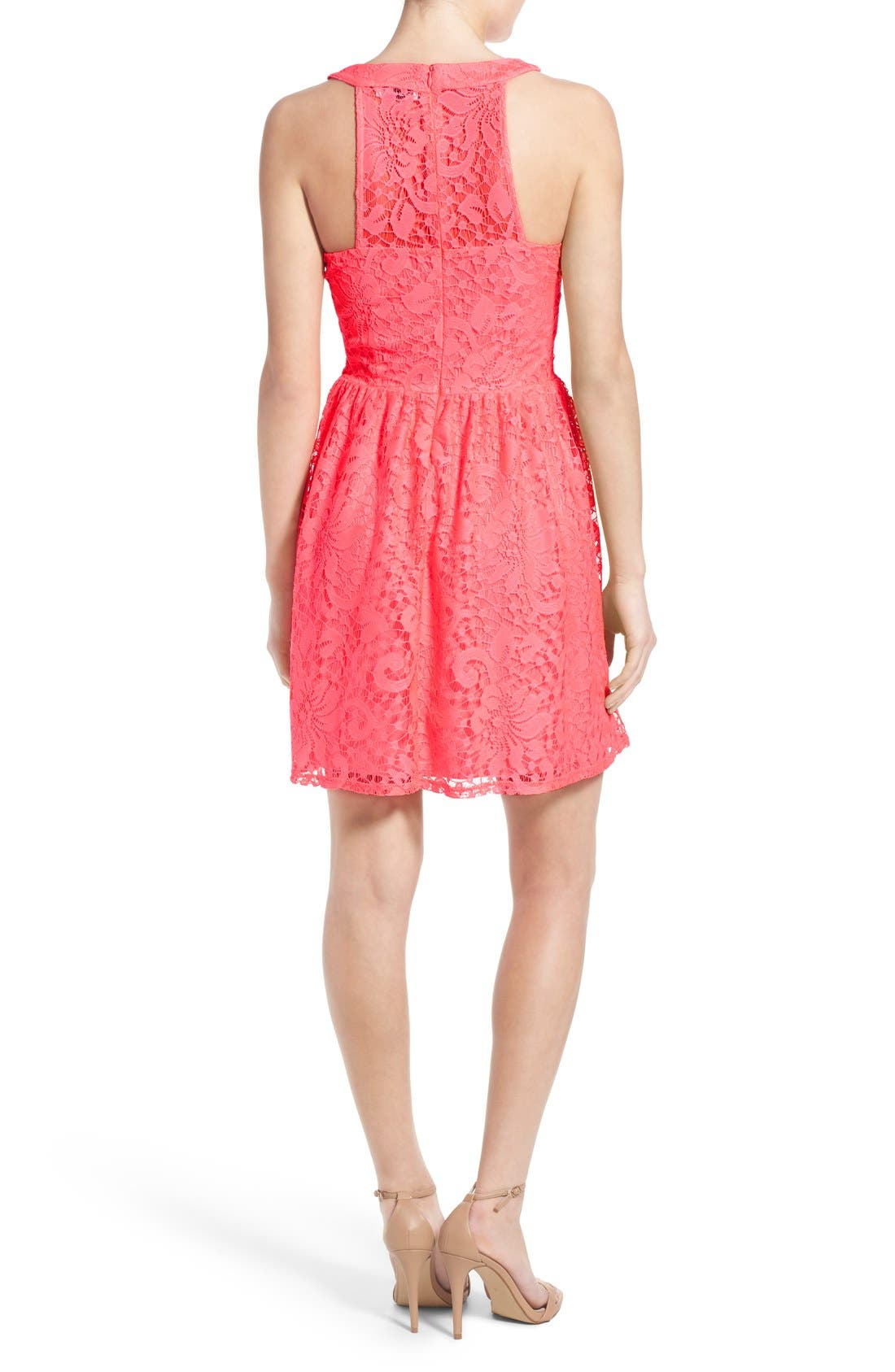 Alternate Image 2  - Speechless Lace Skater Dress