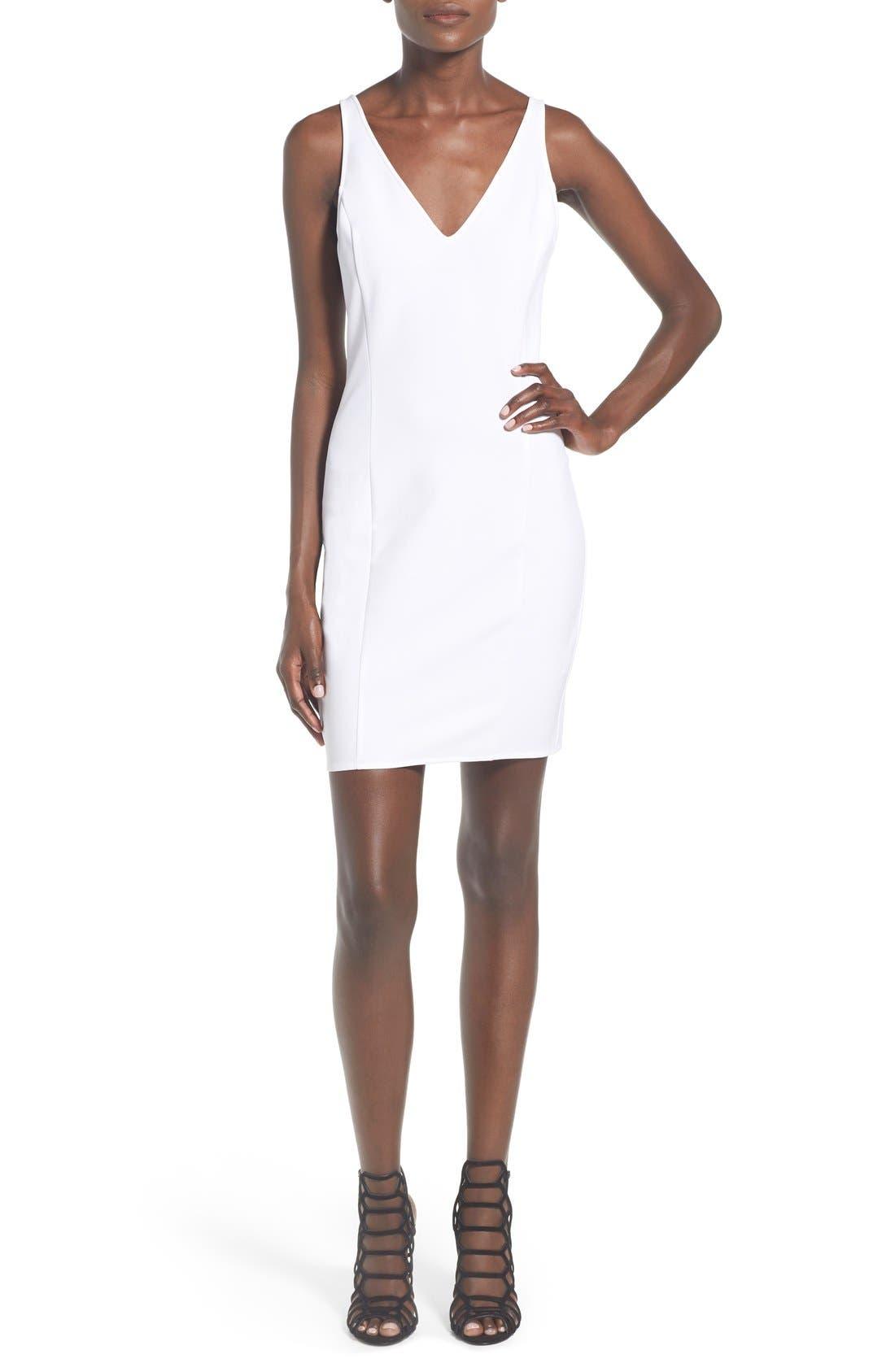 Alternate Image 1 Selected - Leith V-Neck Sheath Dress