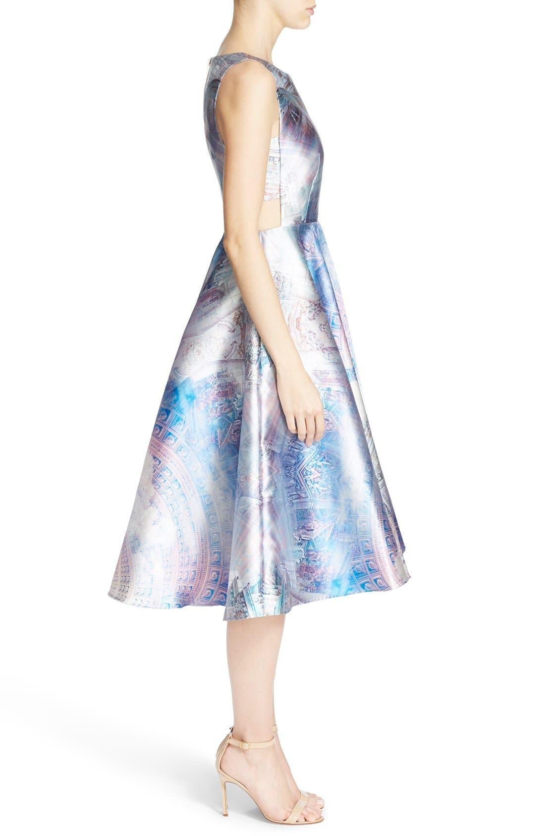 Alternate Image 3  - Ted Baker London 'Larin' Print Fit & Flare Dress