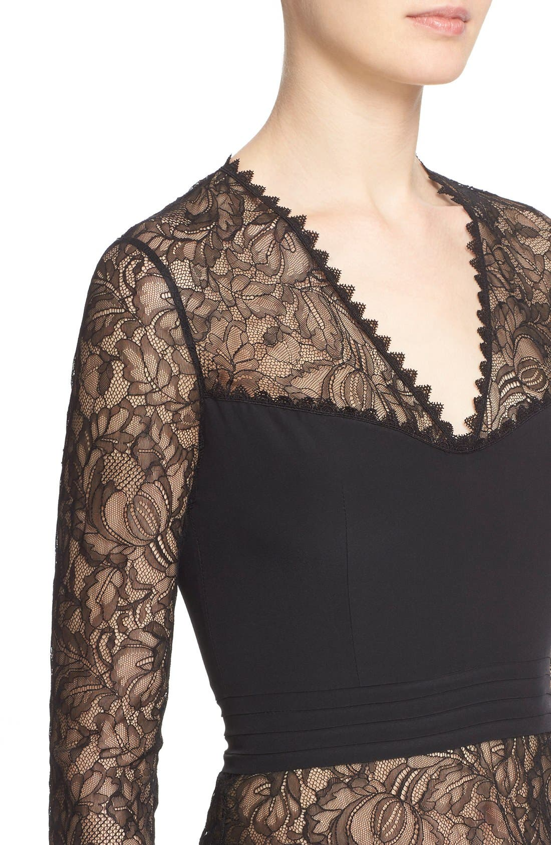 Alternate Image 6  - Yigal Azrouël Illusion Silk Lace Top