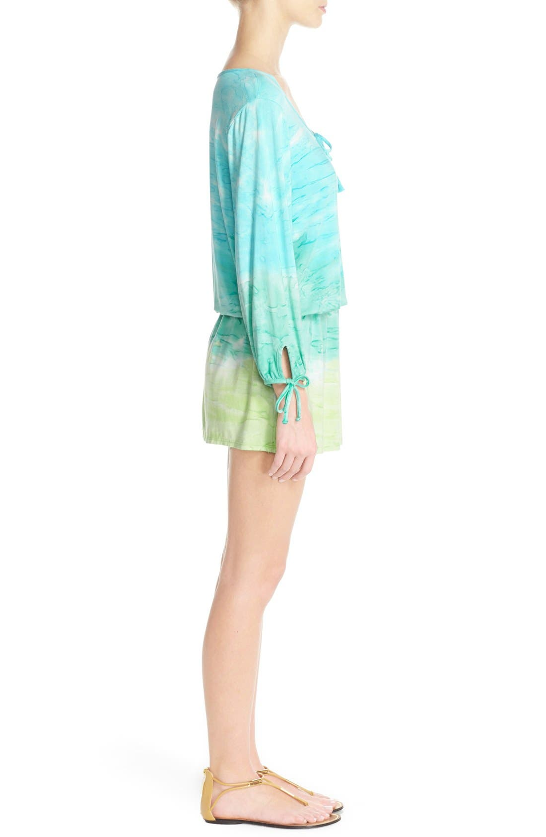 Alternate Image 3  - Green Dragon 'Palais' Print Tunic Cover-Up