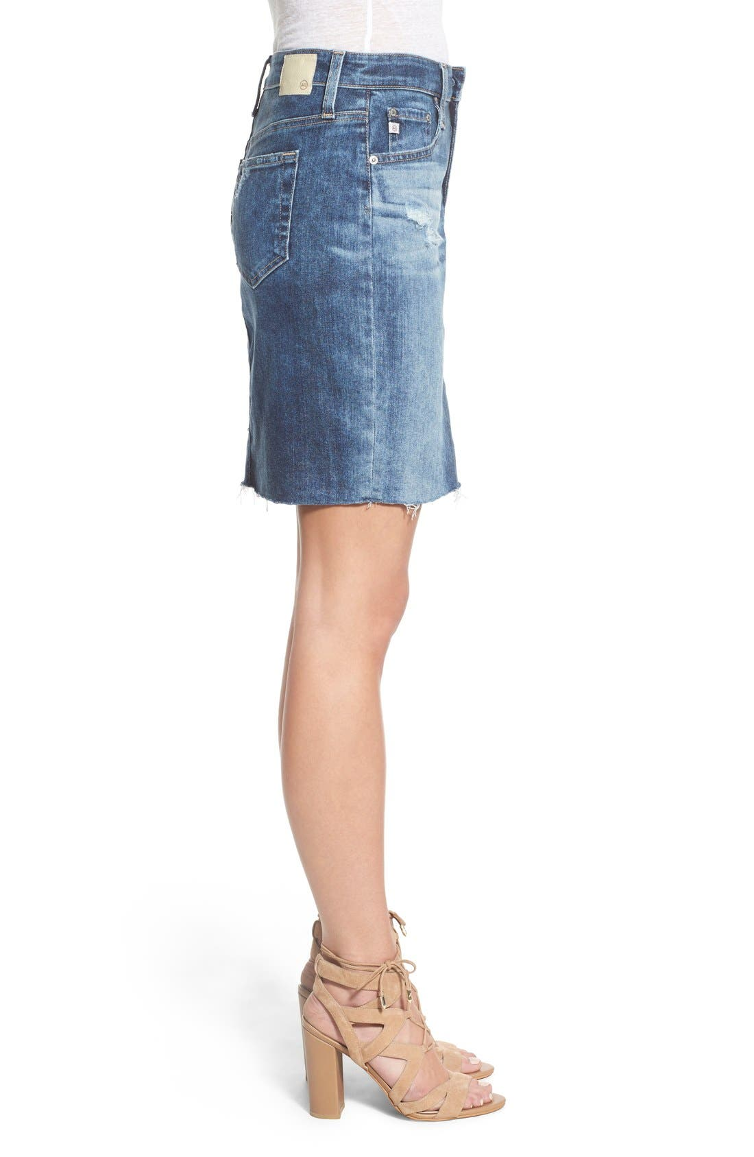Alternate Image 3  - AG 'Erin' Cutoff Denim Skirt (Sail Away)