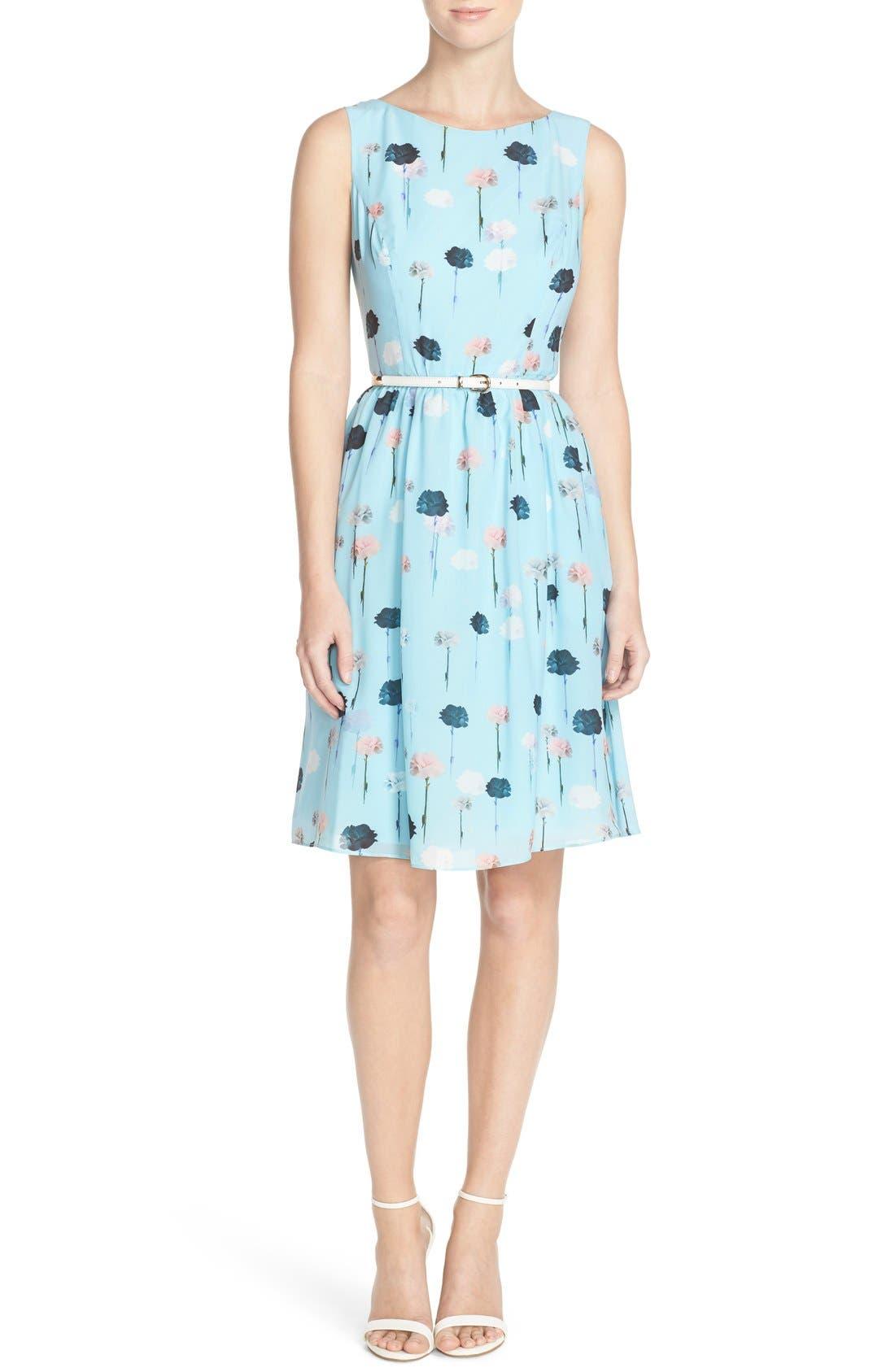Alternate Image 4  - Adrianna Papell Carnation Print Fit & Flare Dress (Regular & Petite)
