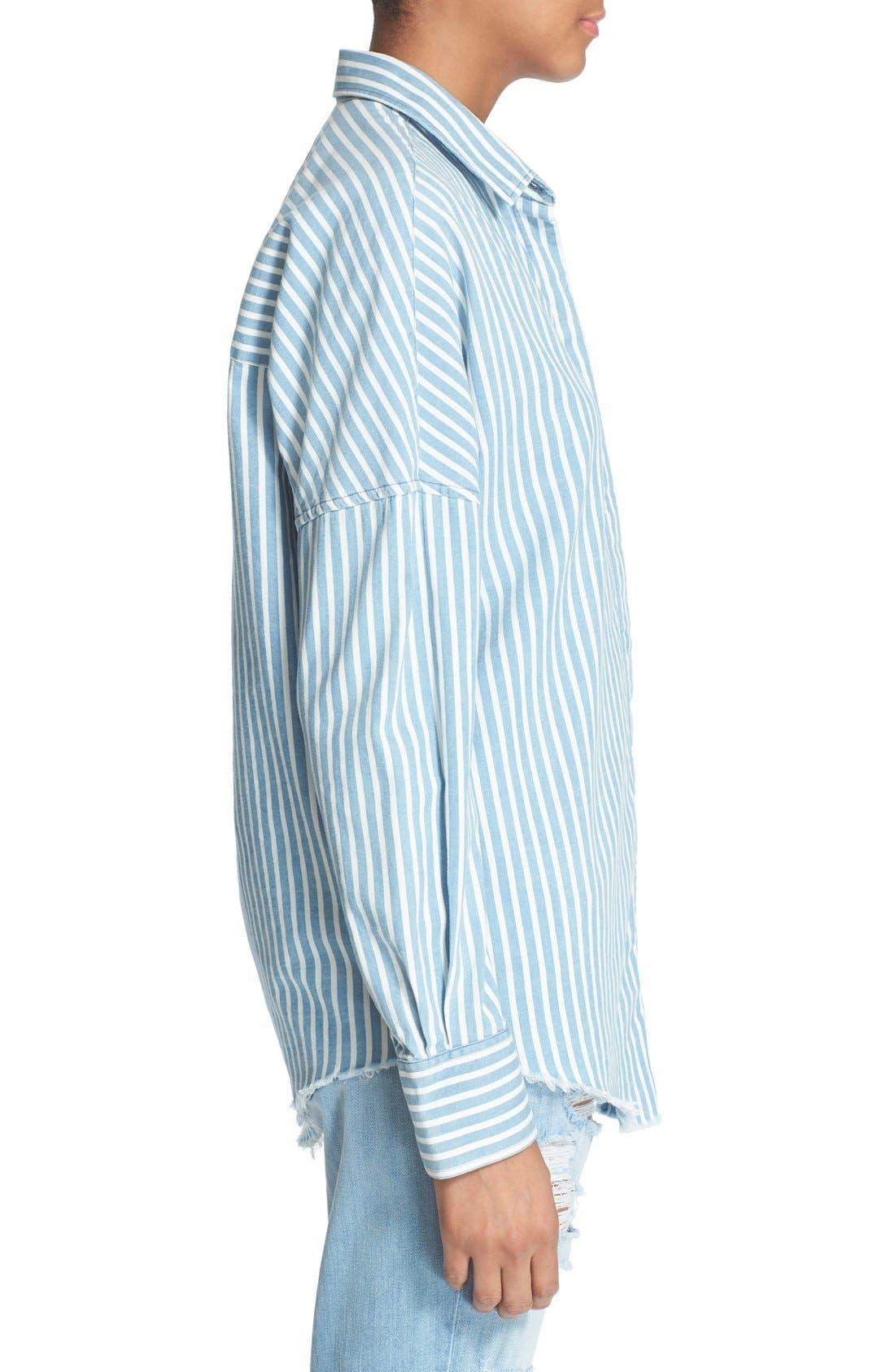 Alternate Image 3  - IRO 'Mia' Stripe Cotton & Modal Shirt