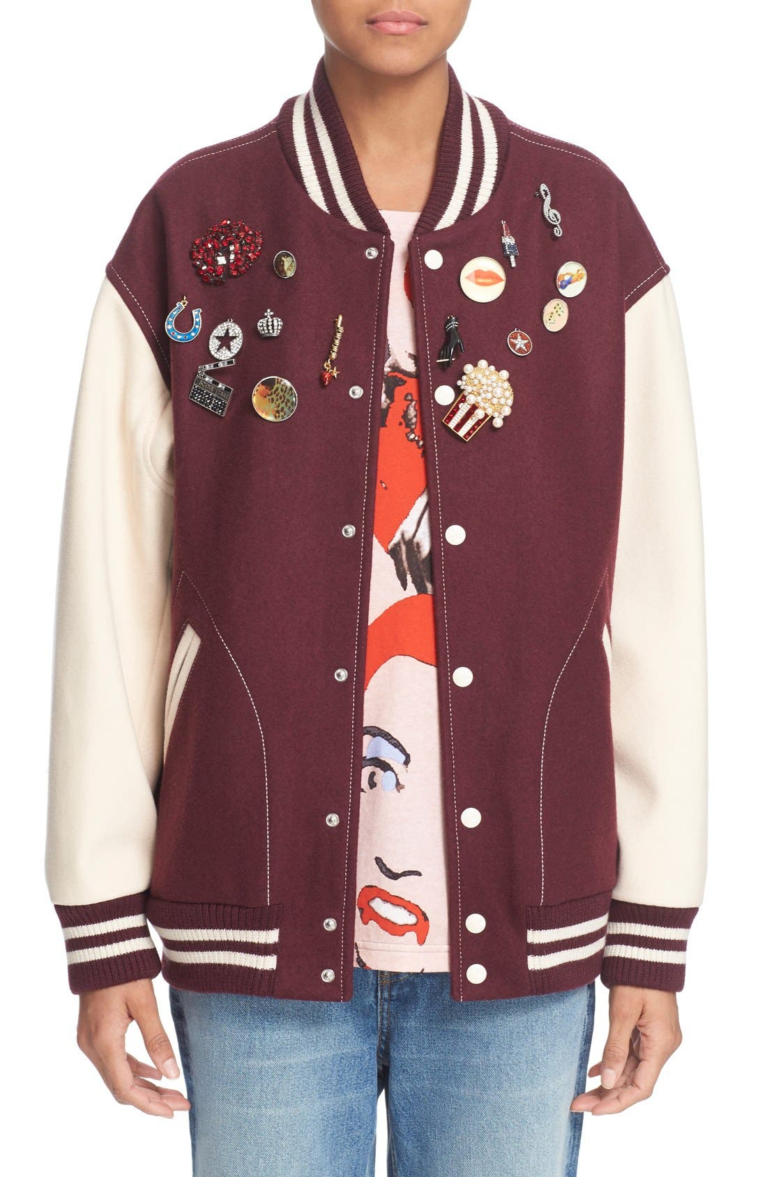 Main Image - MARC JACOBS Embellished Varsity Jacket