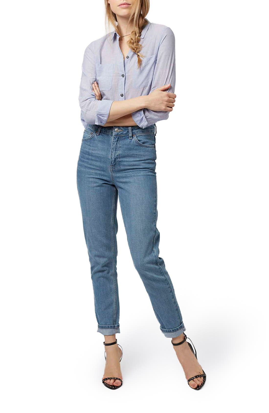 Alternate Image 2  - Topshop High Rise Mom Jeans