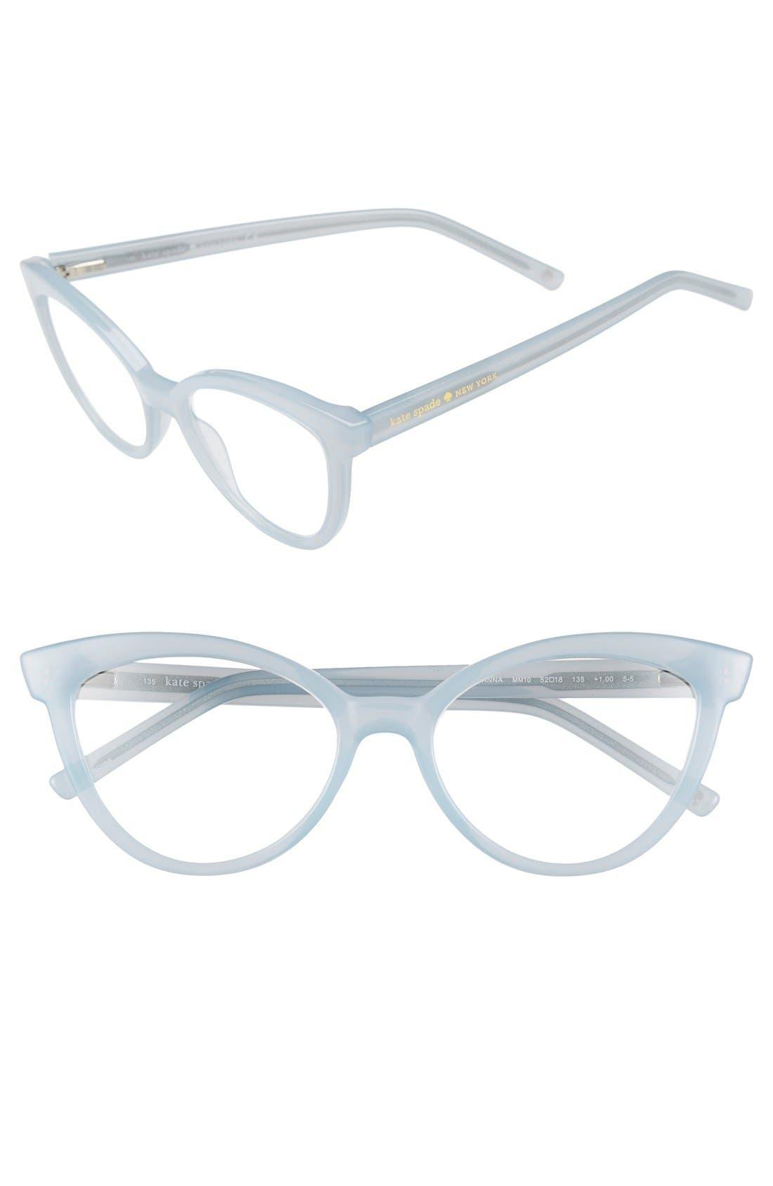 kate spade new york 'danna' 52mm cat eye reading glasses (2 for $88)