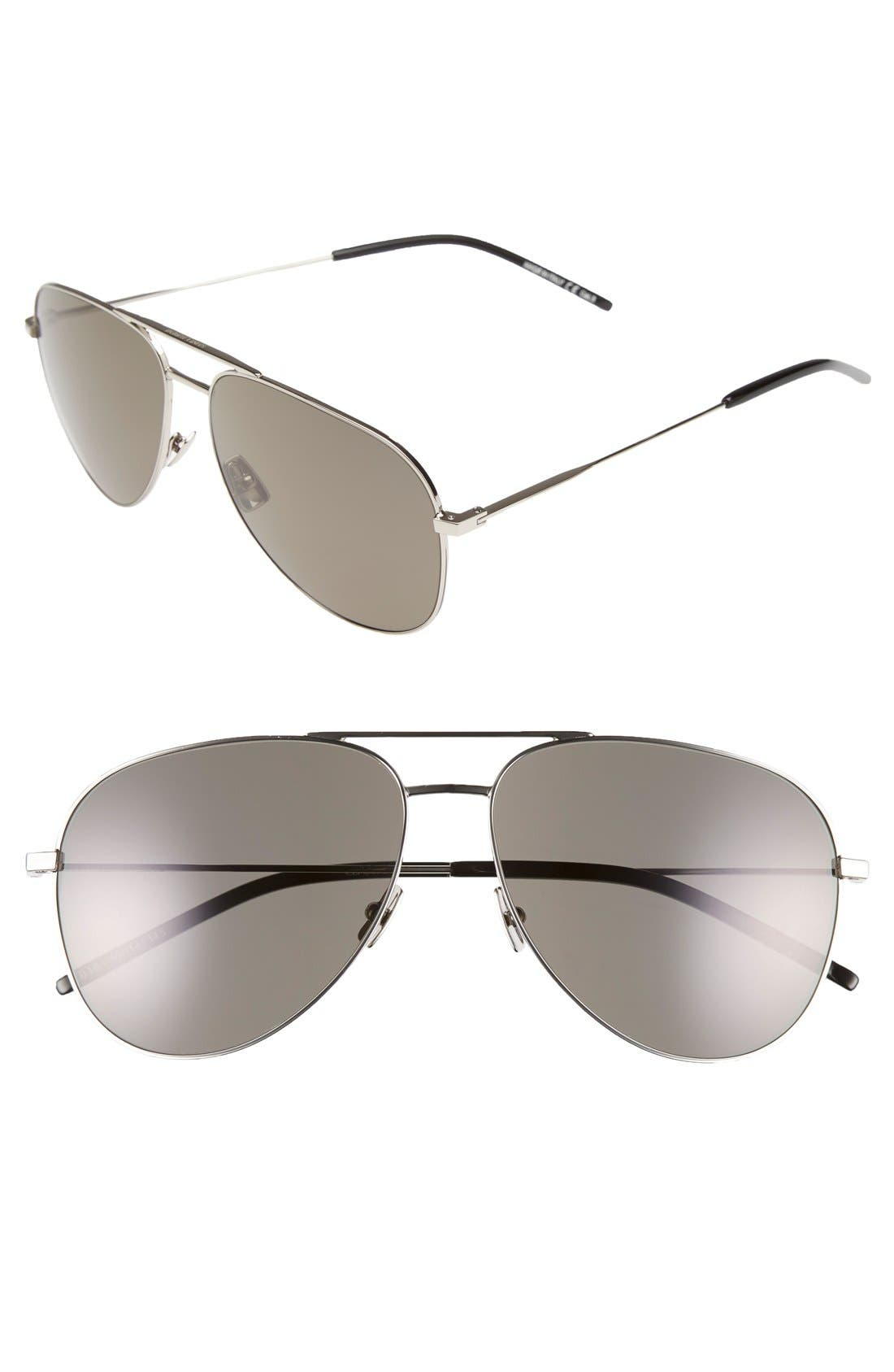 Main Image - Saint Laurent 'Classic' 59mm Aviator Sunglasses