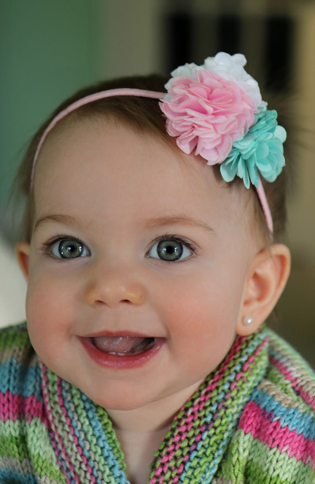 Alternate Image 3  - PLH Bows & Laces Floral Headband (Baby Girls)