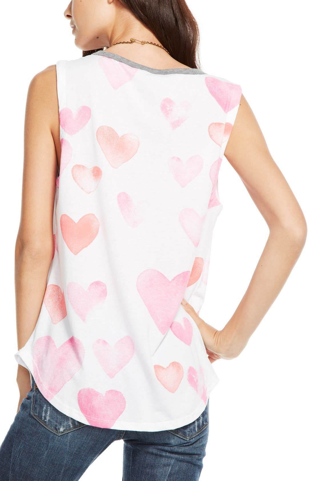 Alternate Image 2  - Chaser 'Watercolor Hearts' Muscle Tee