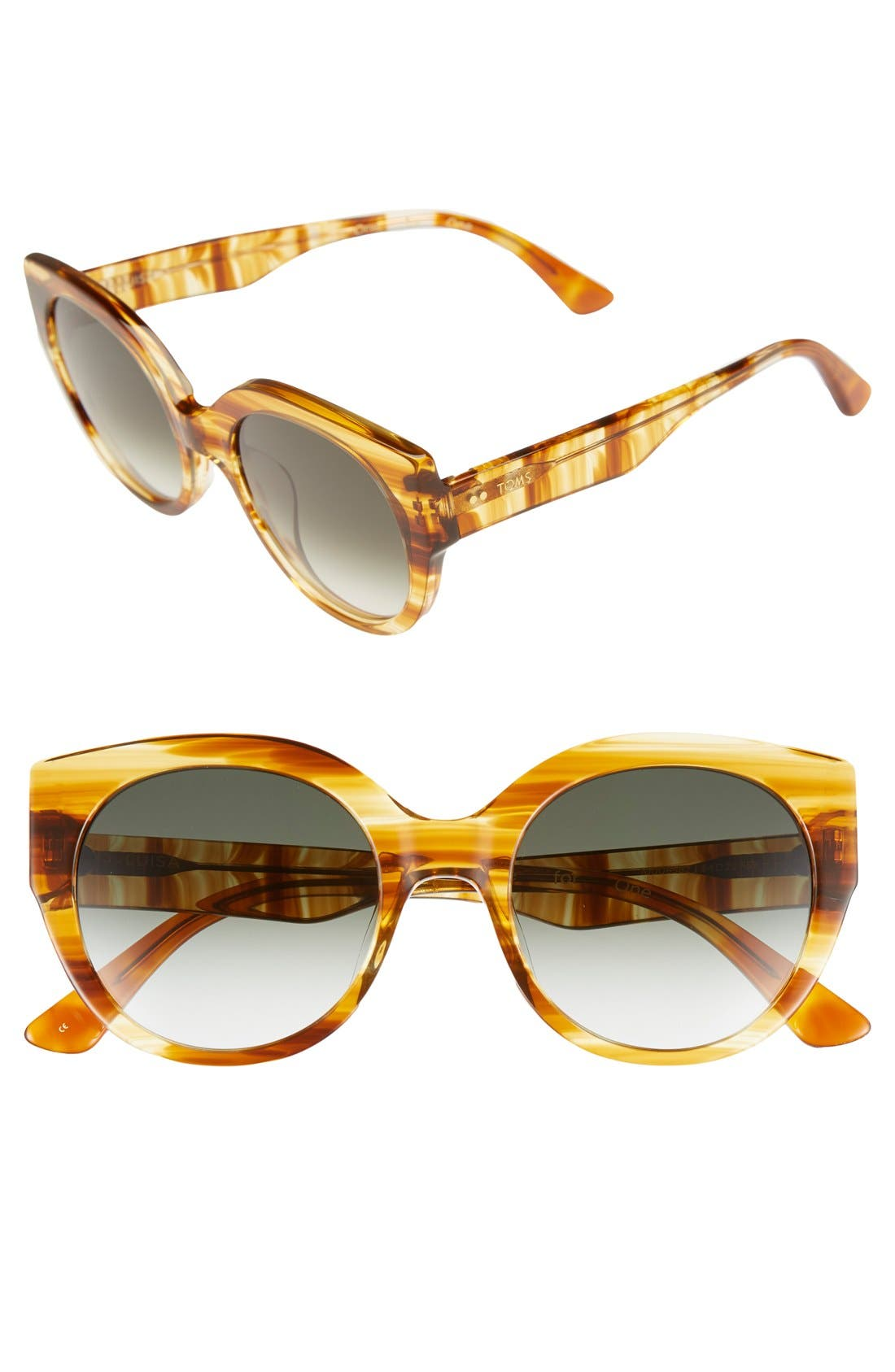 Alternate Image 1 Selected - TOMS 'Luisa' 54mm Retro Sunglasses