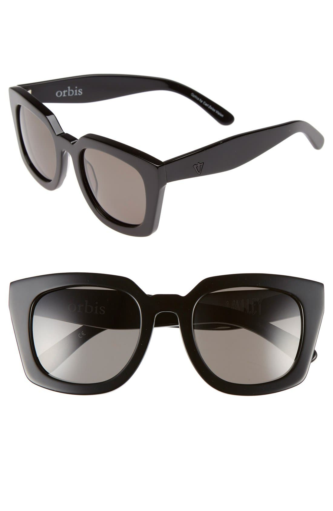 VALLEY 'Orbis' 50mm Oversized Sunglasses
