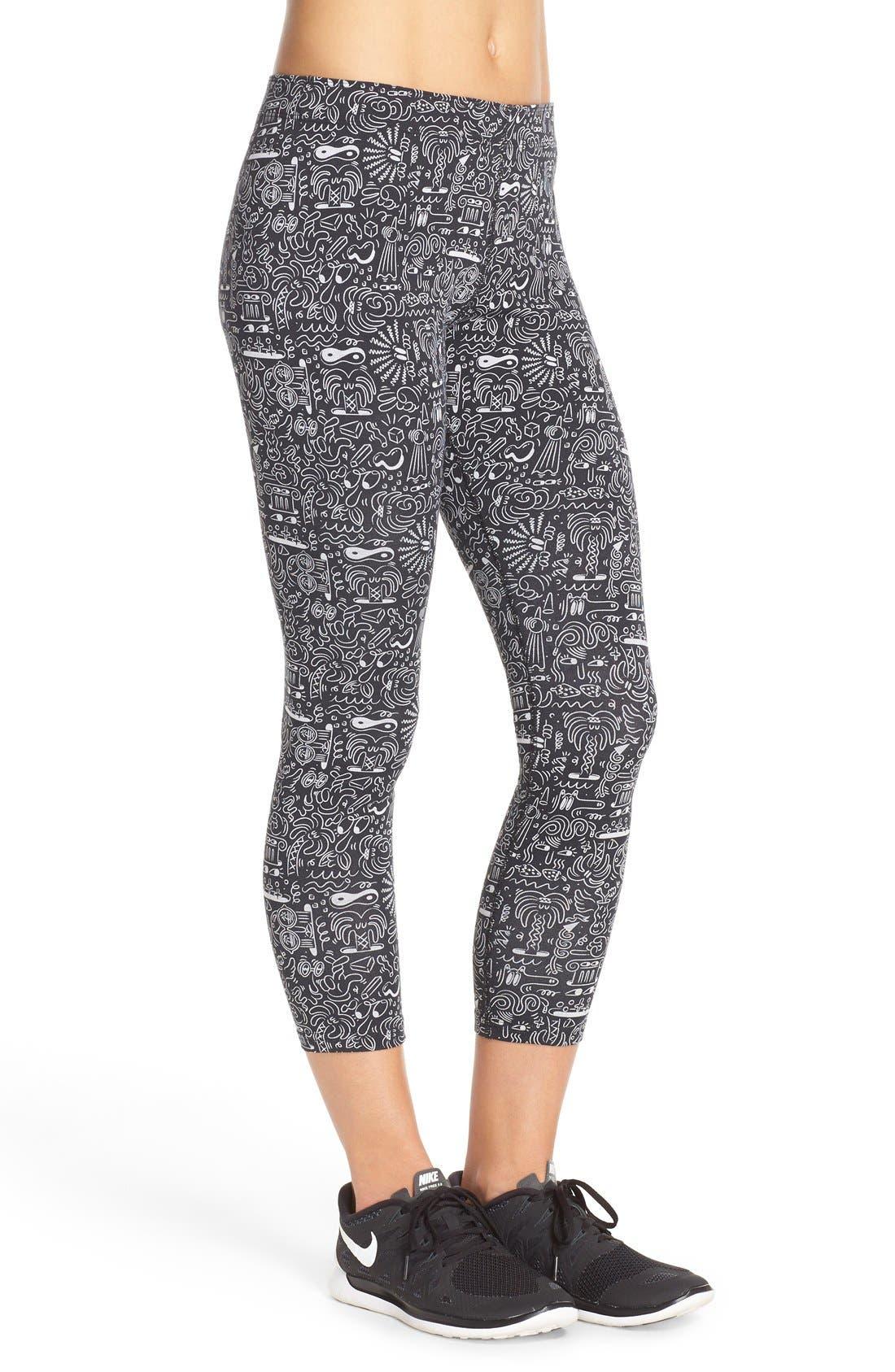 Alternate Image 3  - Nike 'Leg-A-See' Print Crop Leggings