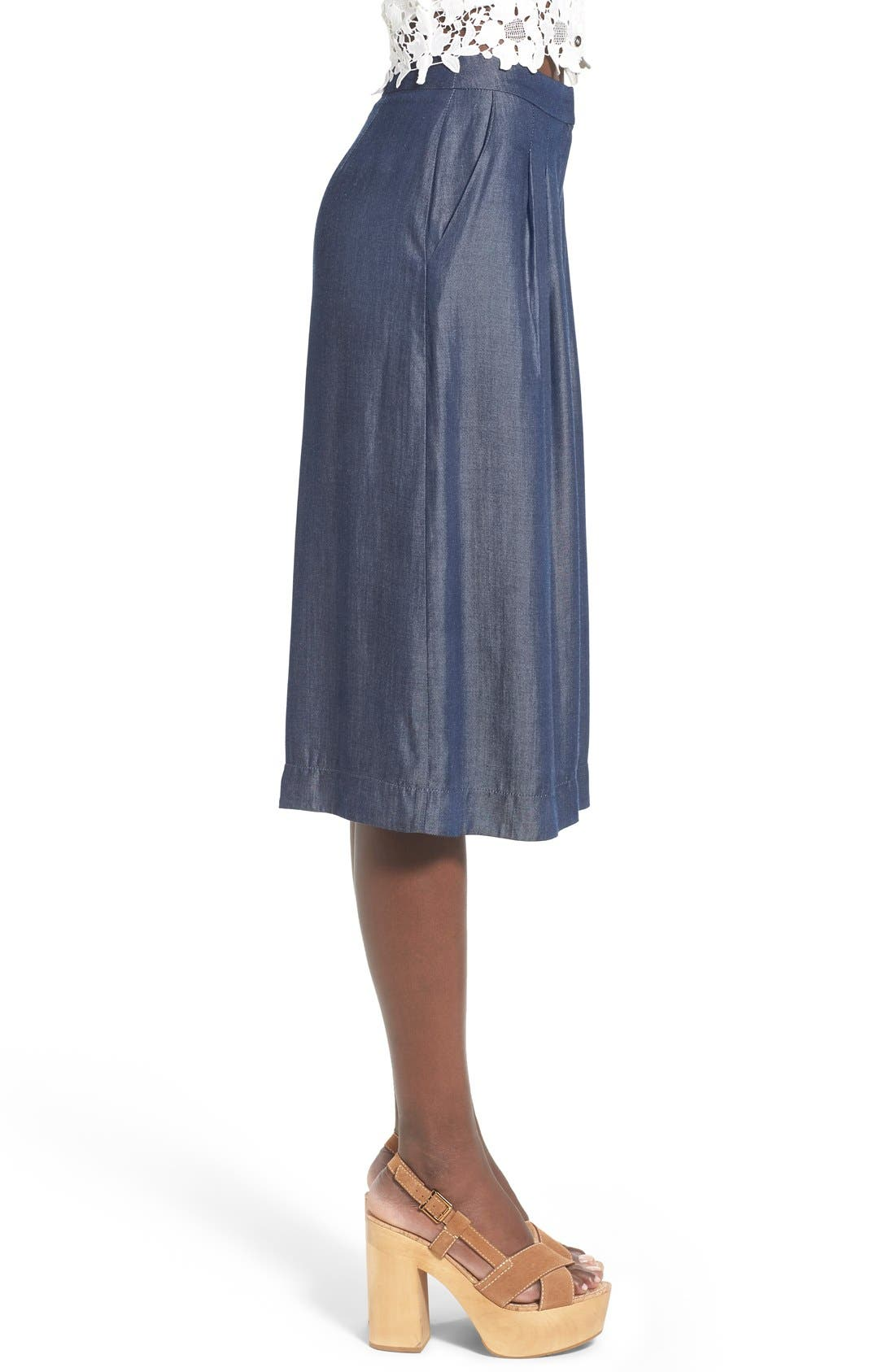 Alternate Image 3  - ASTR 'Ashley' Chambray Culottes