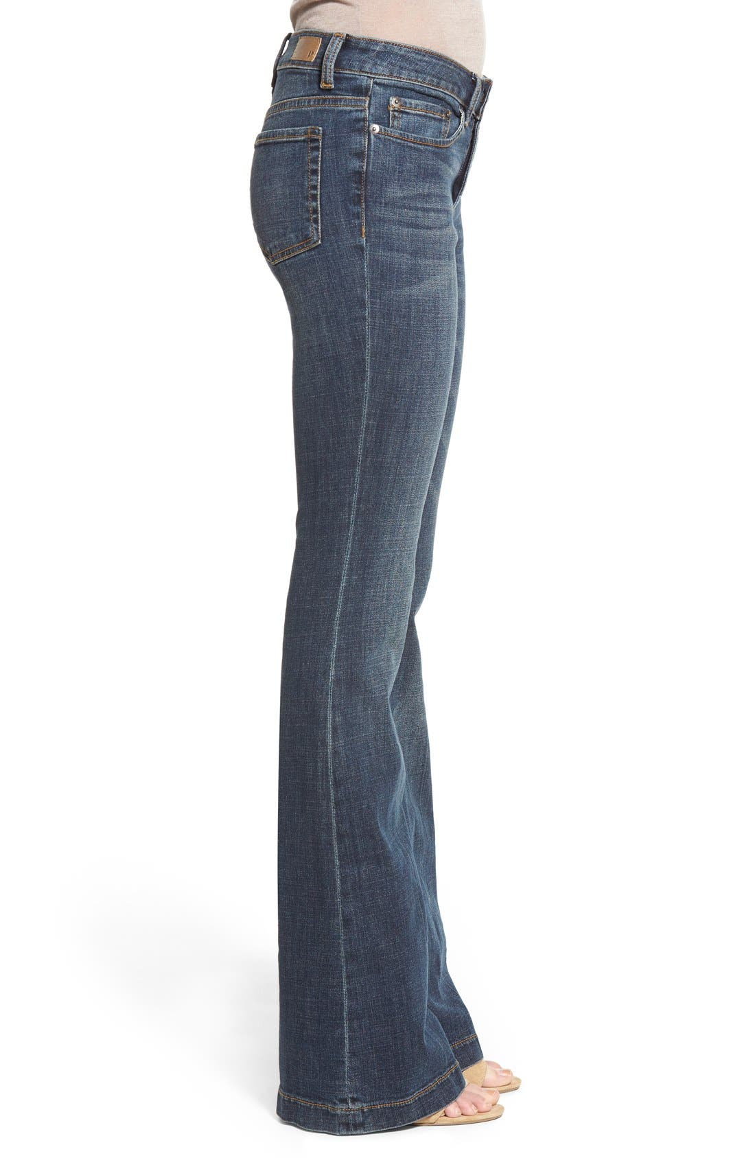 Alternate Image 3  - BP. Mid Rise Flare Jeans (Dark Bloom)