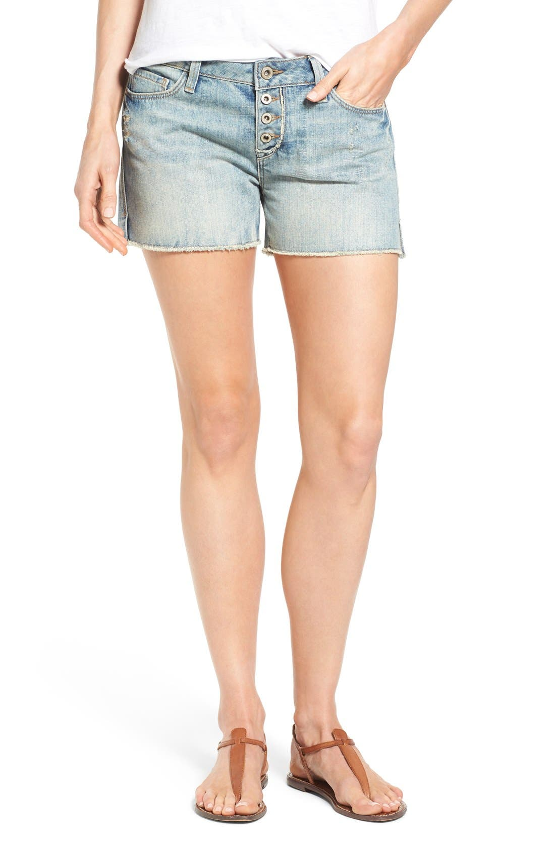 MAVI JEANS 'Emily' Distressed Denim Boyfriend Shorts