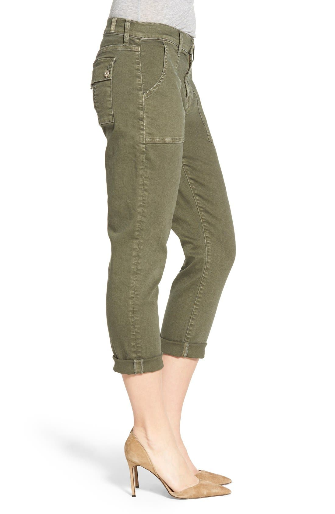 Alternate Image 3  - 7 For All Mankind® Crop Slim Boyfriend Military Pants