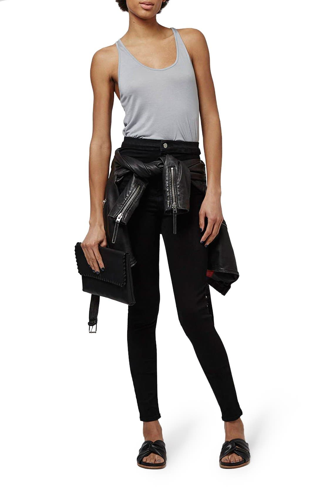 Alternate Image 2  - Topshop 'Joni - Holding Power' High Waist Skinny Jeans (Tall)