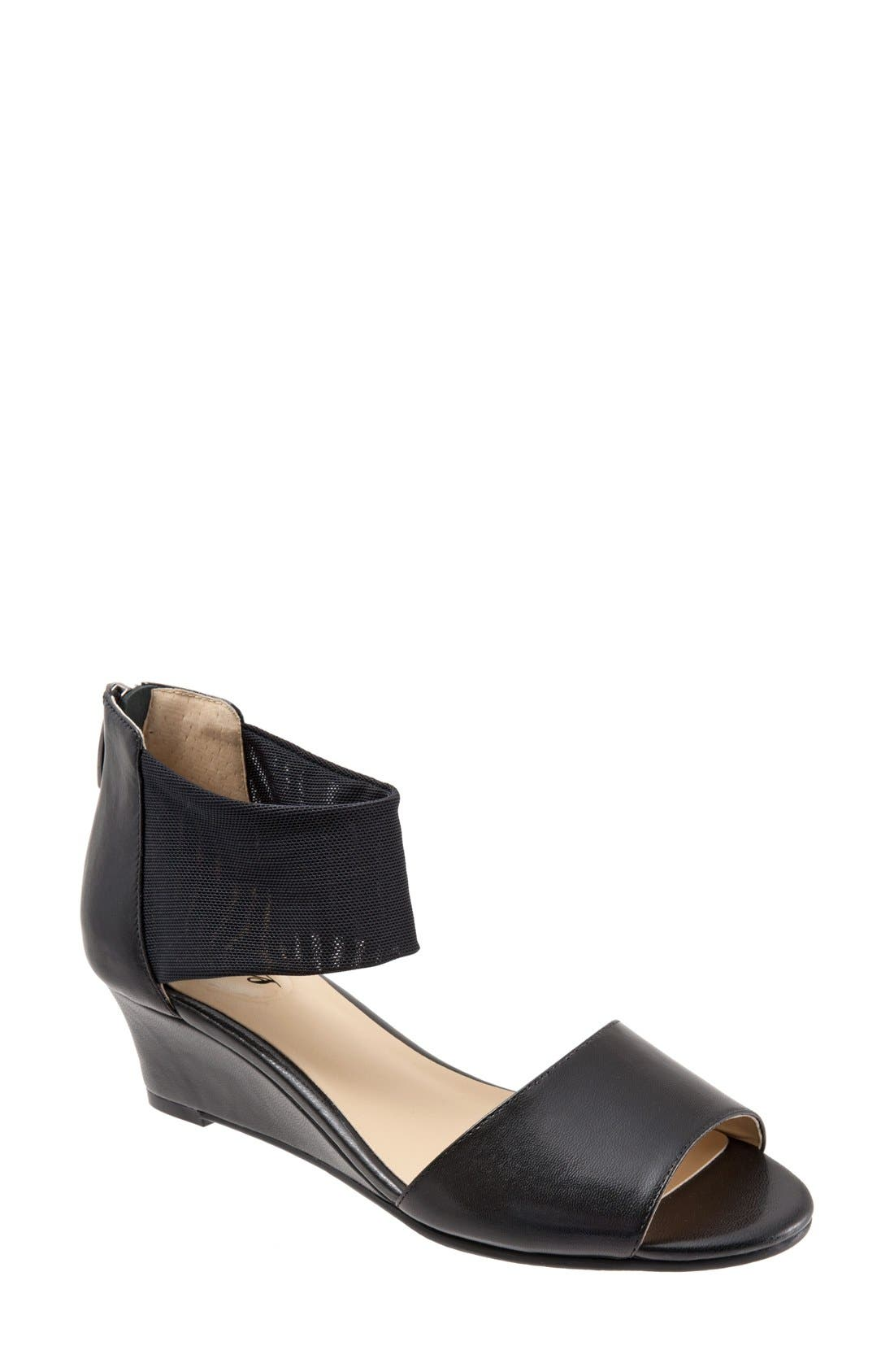 Trotters 'Maddy' Ankle Cuff Wedge Sandal (Women)