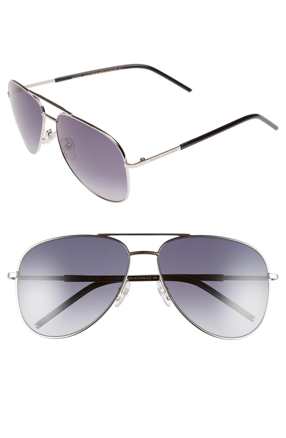 Alternate Image 1 Selected - MARC JACOBS 59mm Aviator Sunglasses