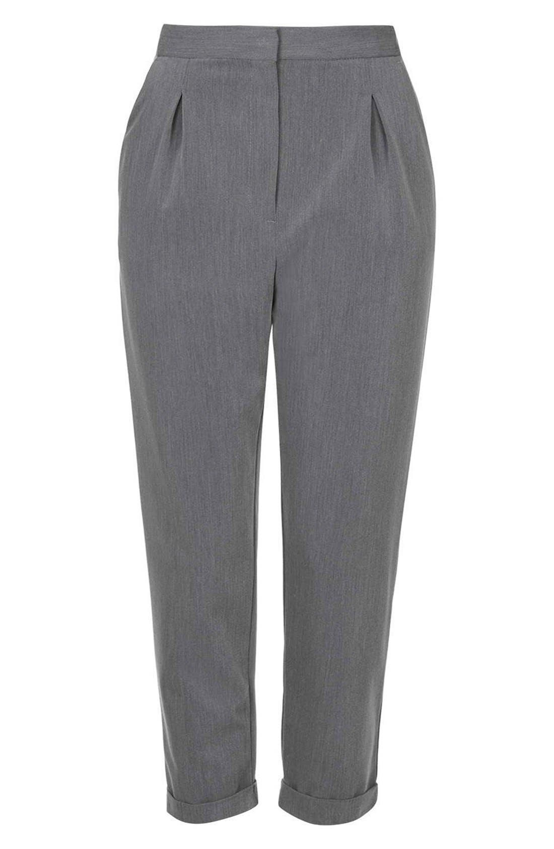 Alternate Image 4  - Topshop Notch Back Tapered Trousers (Petite)