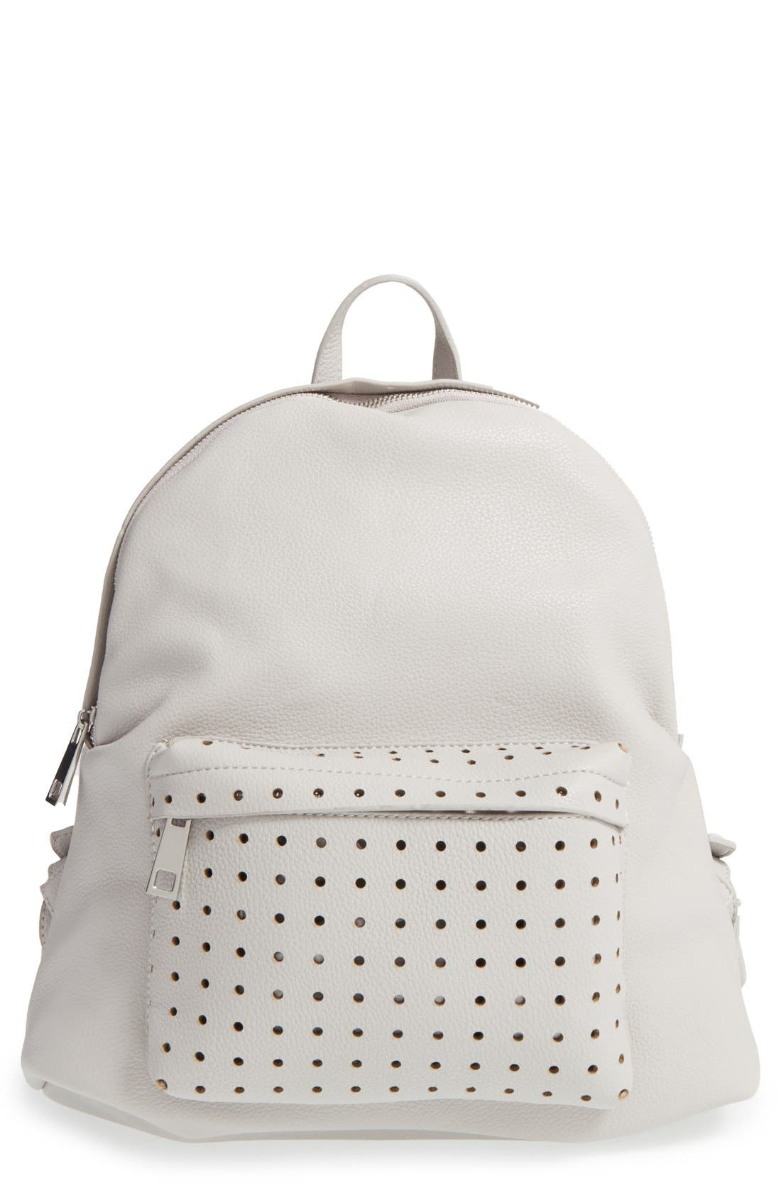 Main Image - Street Level Perforated Faux Leather Backpack