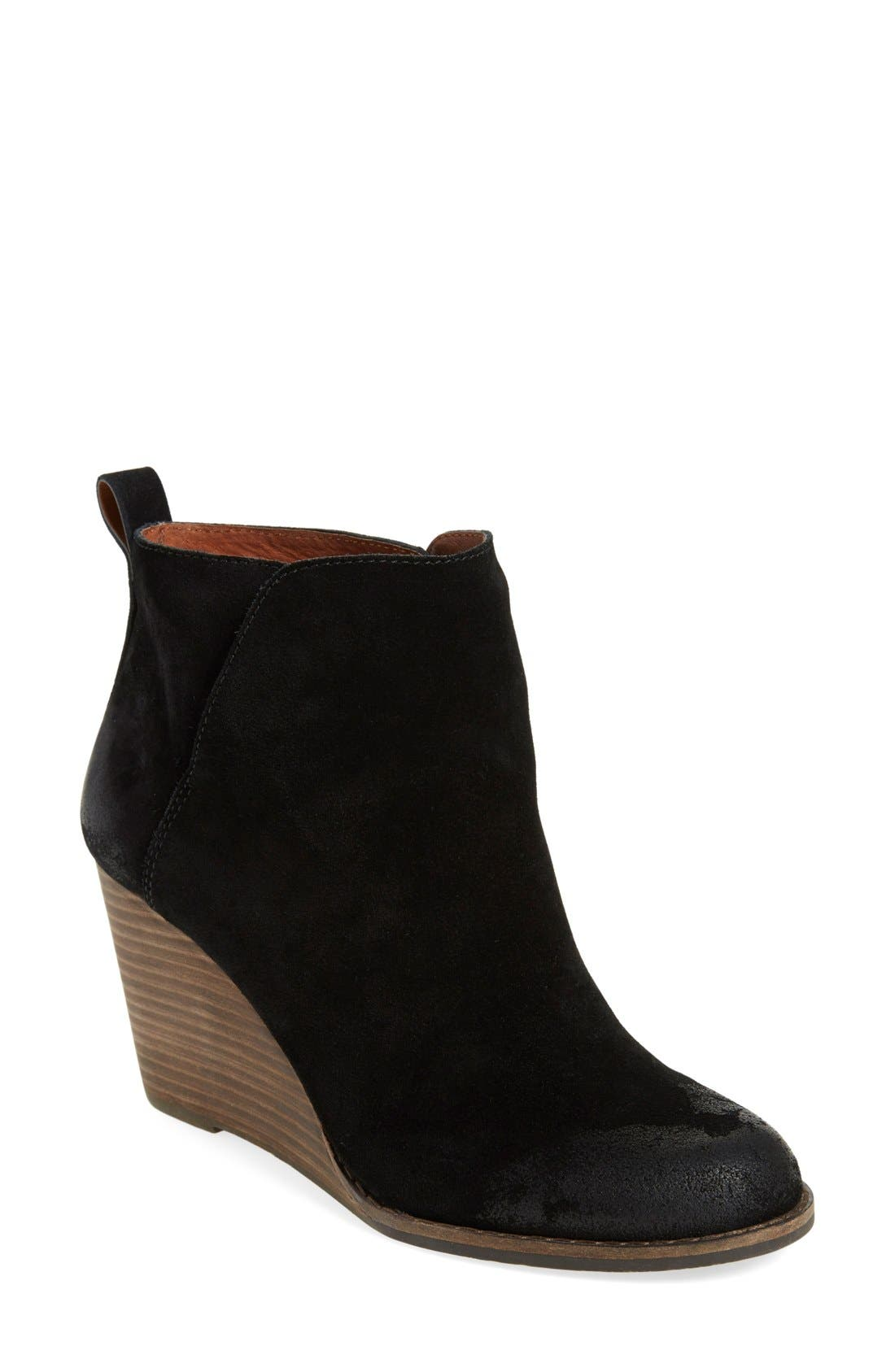 Alternate Image 1 Selected - Lucky Brand 'Yezzah' Wedge Bootie (Women)