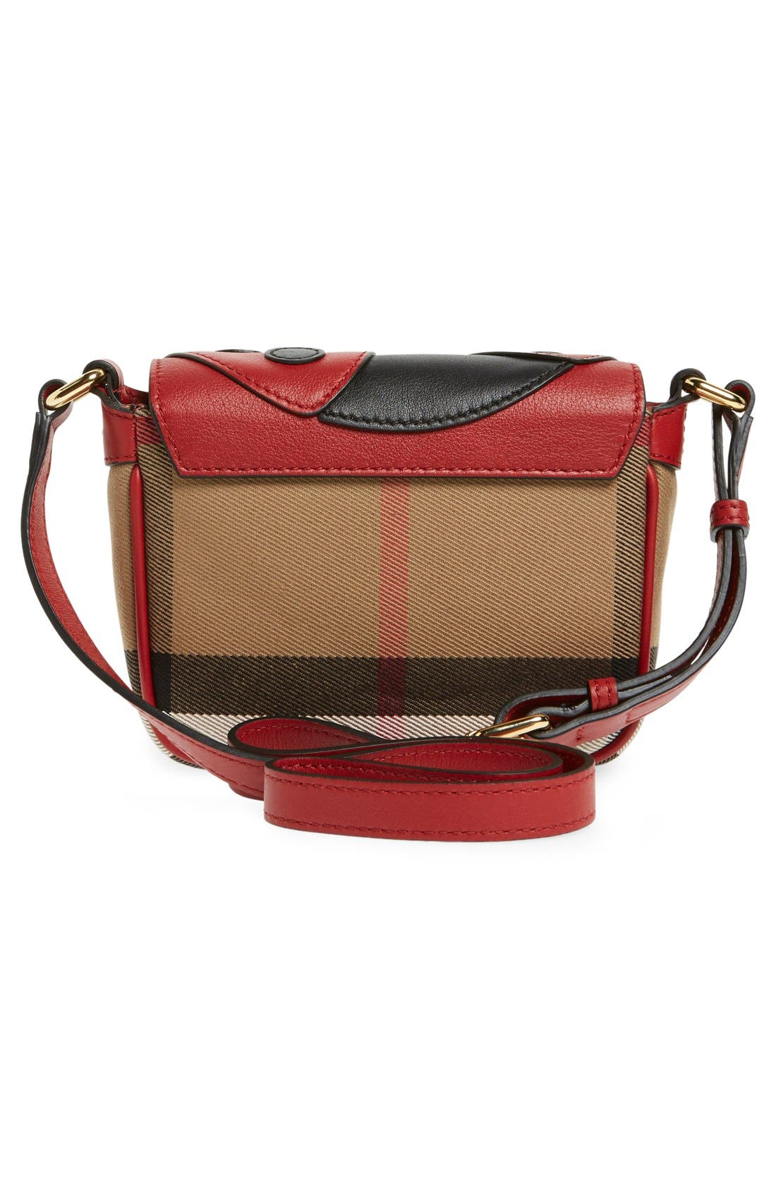 Alternate Image 4  - Burberry 'Ladybird' Cotton & Leather Crossbody Bag (Girls)