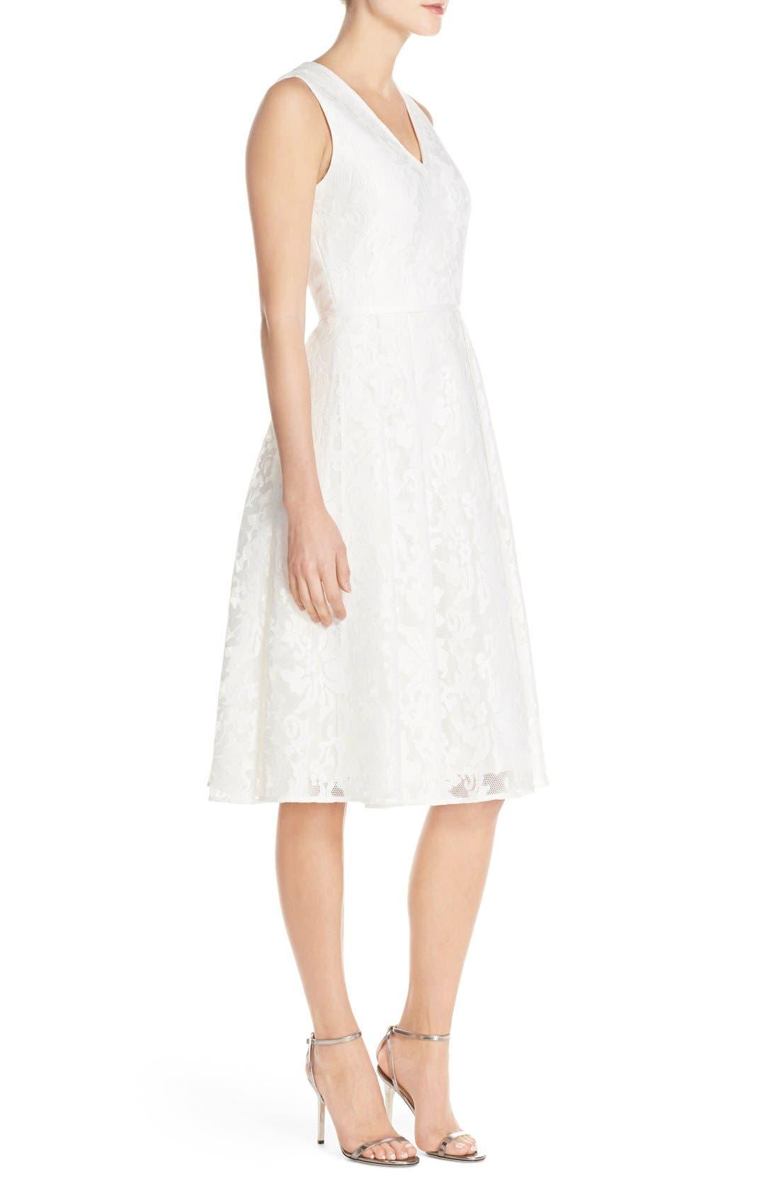 Alternate Image 2  - Ted Baker London 'Deah' V-Neck Bonded Mesh Lace Dress