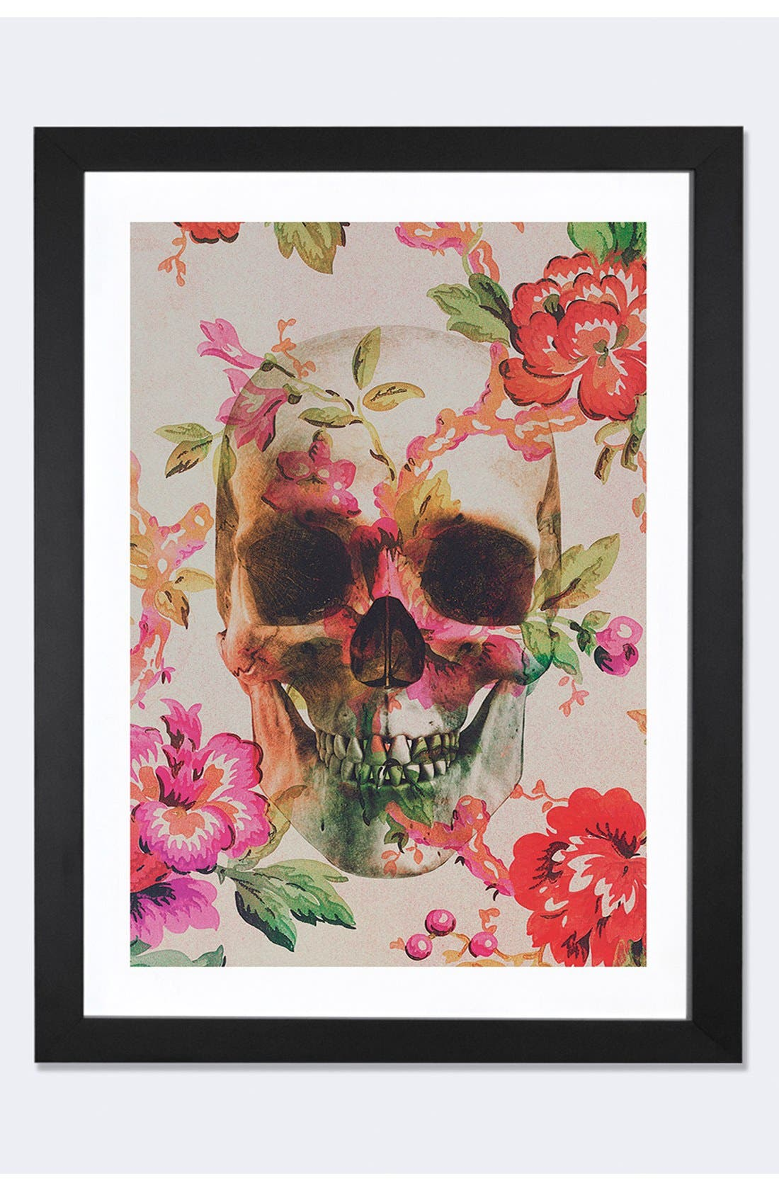 ICANVAS 'Skull By Andreas' Framed Fine Art Print