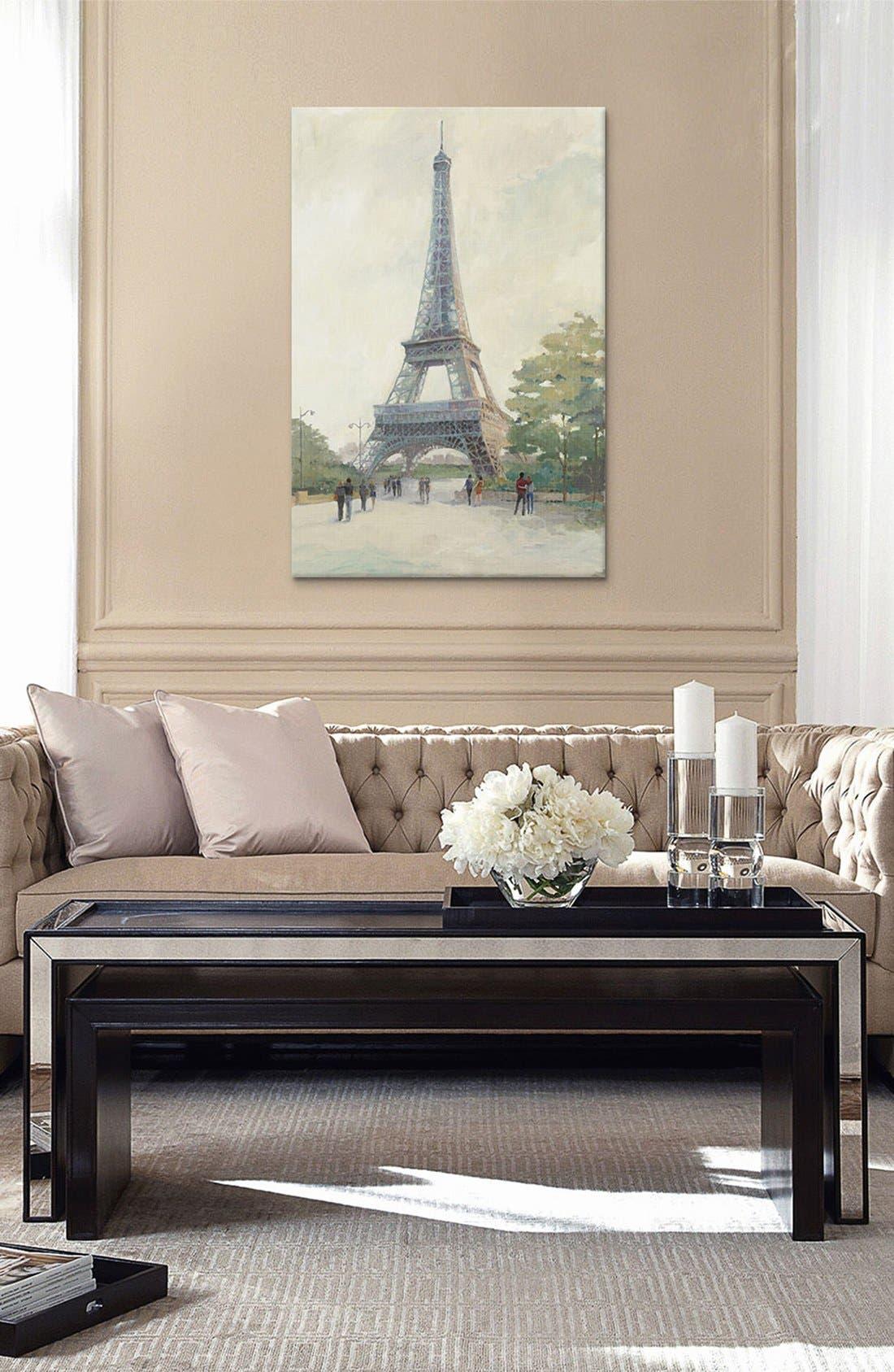 Alternate Image 2  - iCanvas 'Evening in Paris - Eiffel Tower' Giclée Print Canvas Art