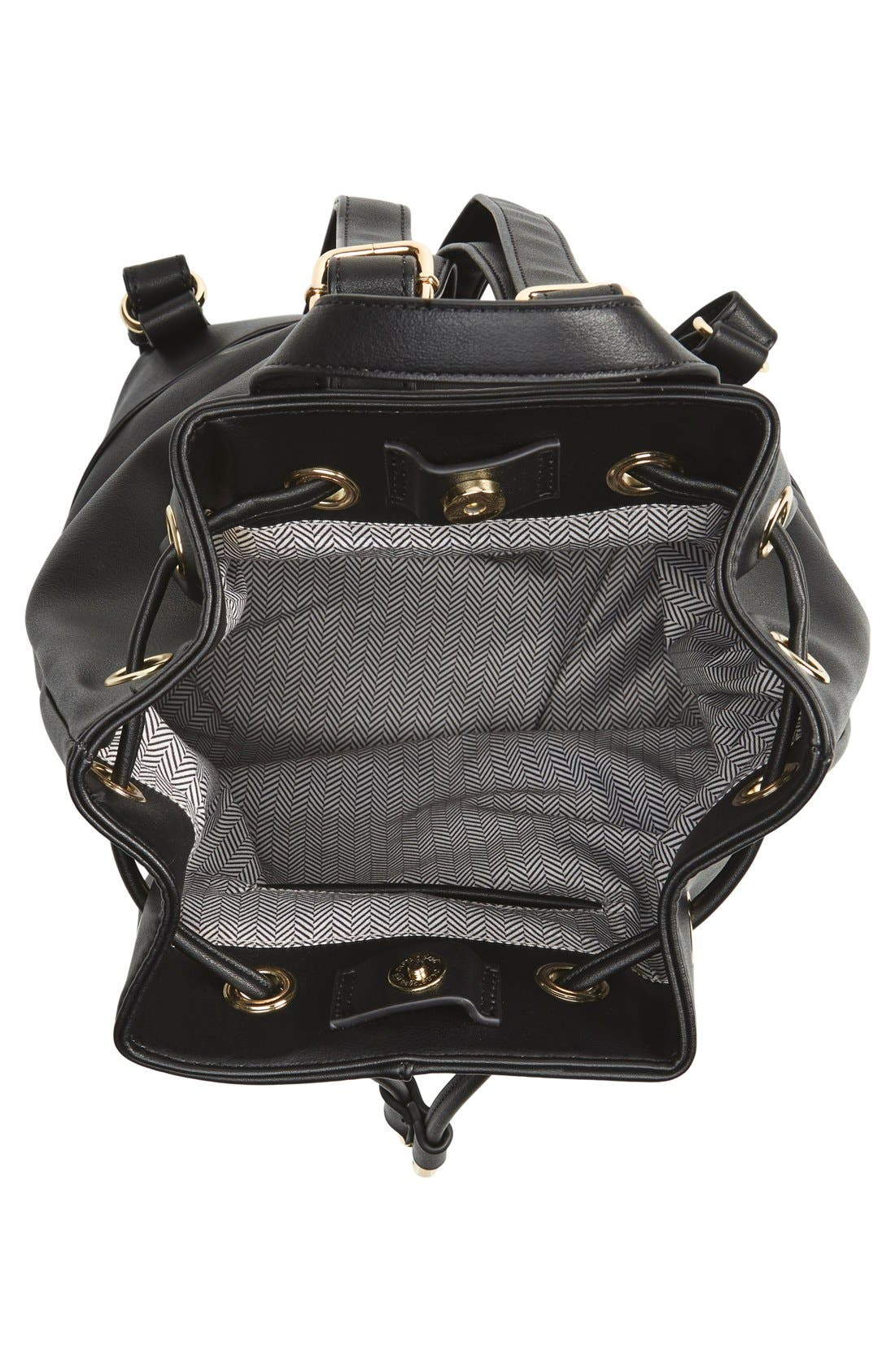 Alternate Image 5  - BP. Faux Leather Drawstring Backpack