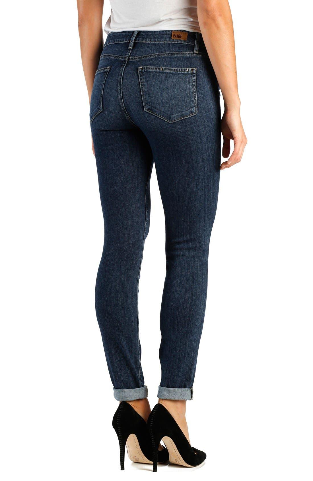 Alternate Image 2  - Paige Denim 'Transcend - Hoxton' High Rise Cuffed Crop Skinny Jeans (Electra)