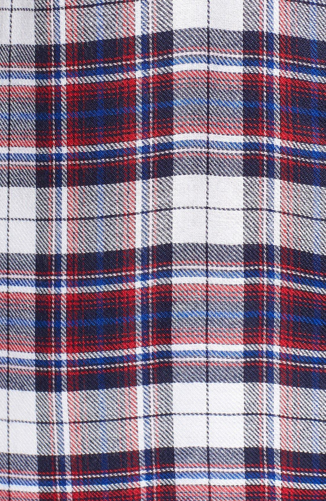 Alternate Image 5  - Bobeau Plaid Two Pocket Sleeveless Tunic Shirt