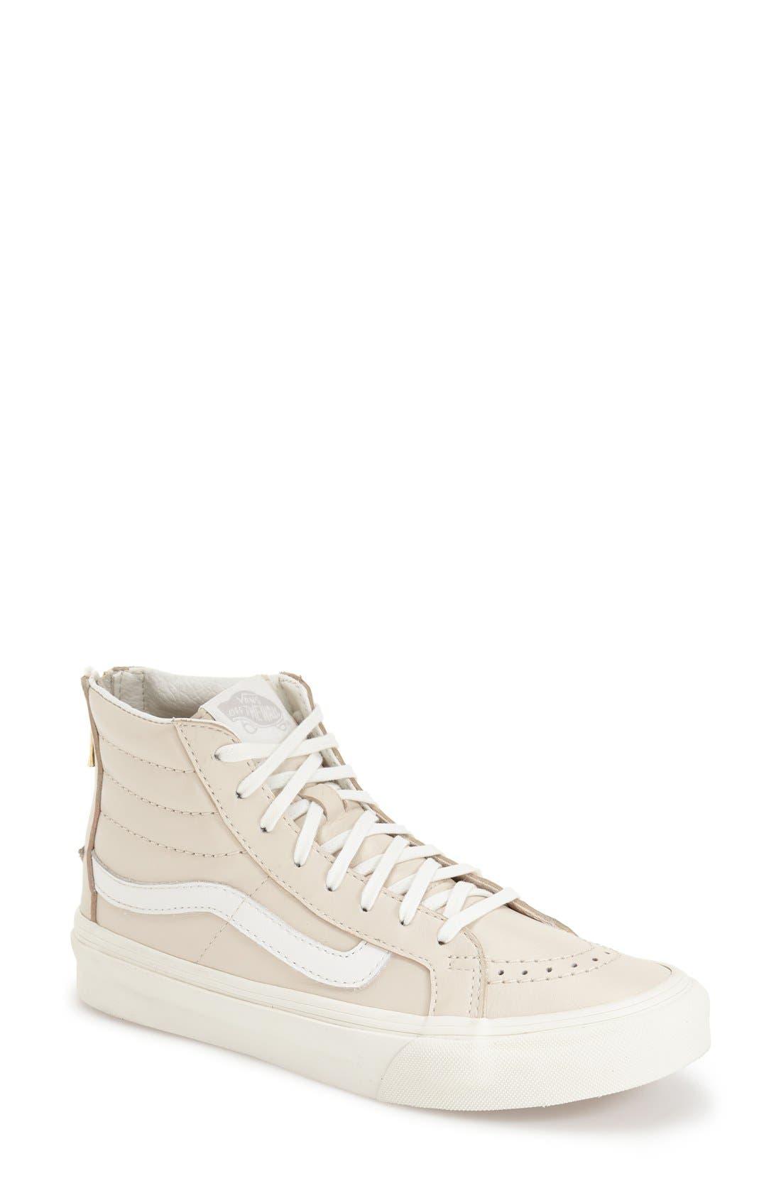 Alternate Image 1 Selected - Vans 'Sk8-Hi Slim' High Top Sneaker (Women)