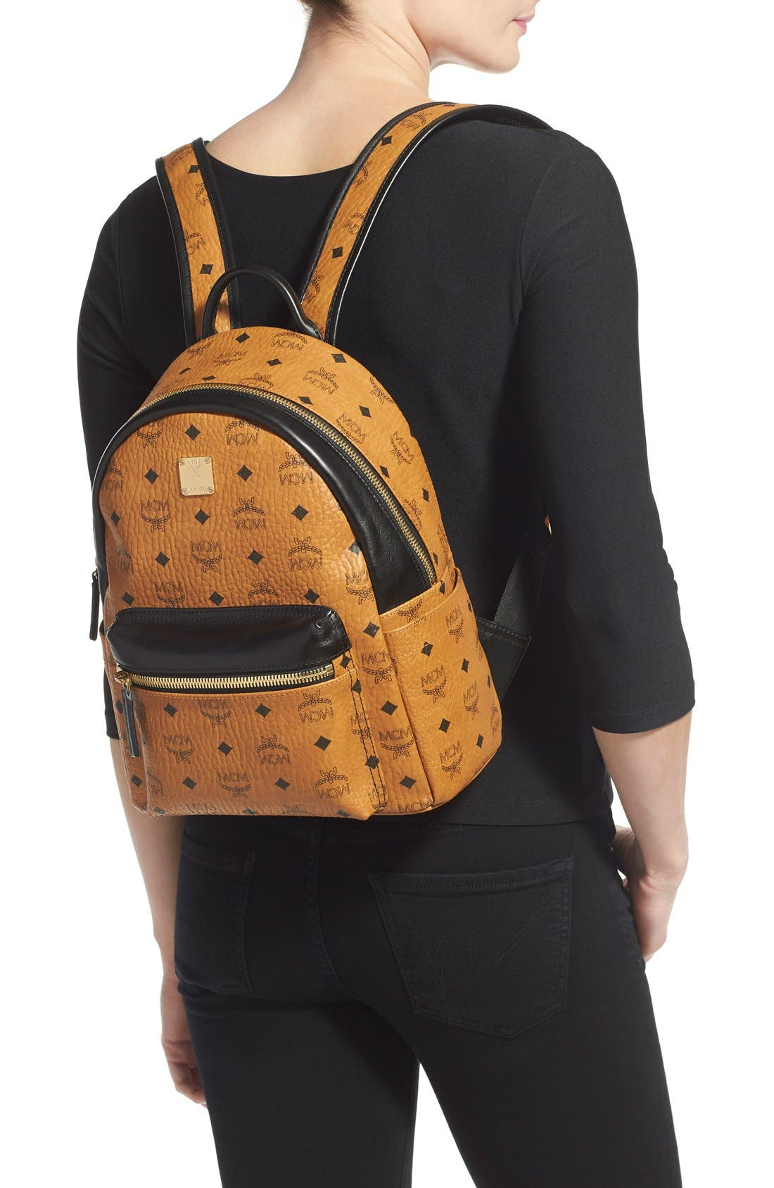 Alternate Image 2  - MCM Backpack 'Small Stark' Coated Canvas Backpack (Nordstrom Exclusive)