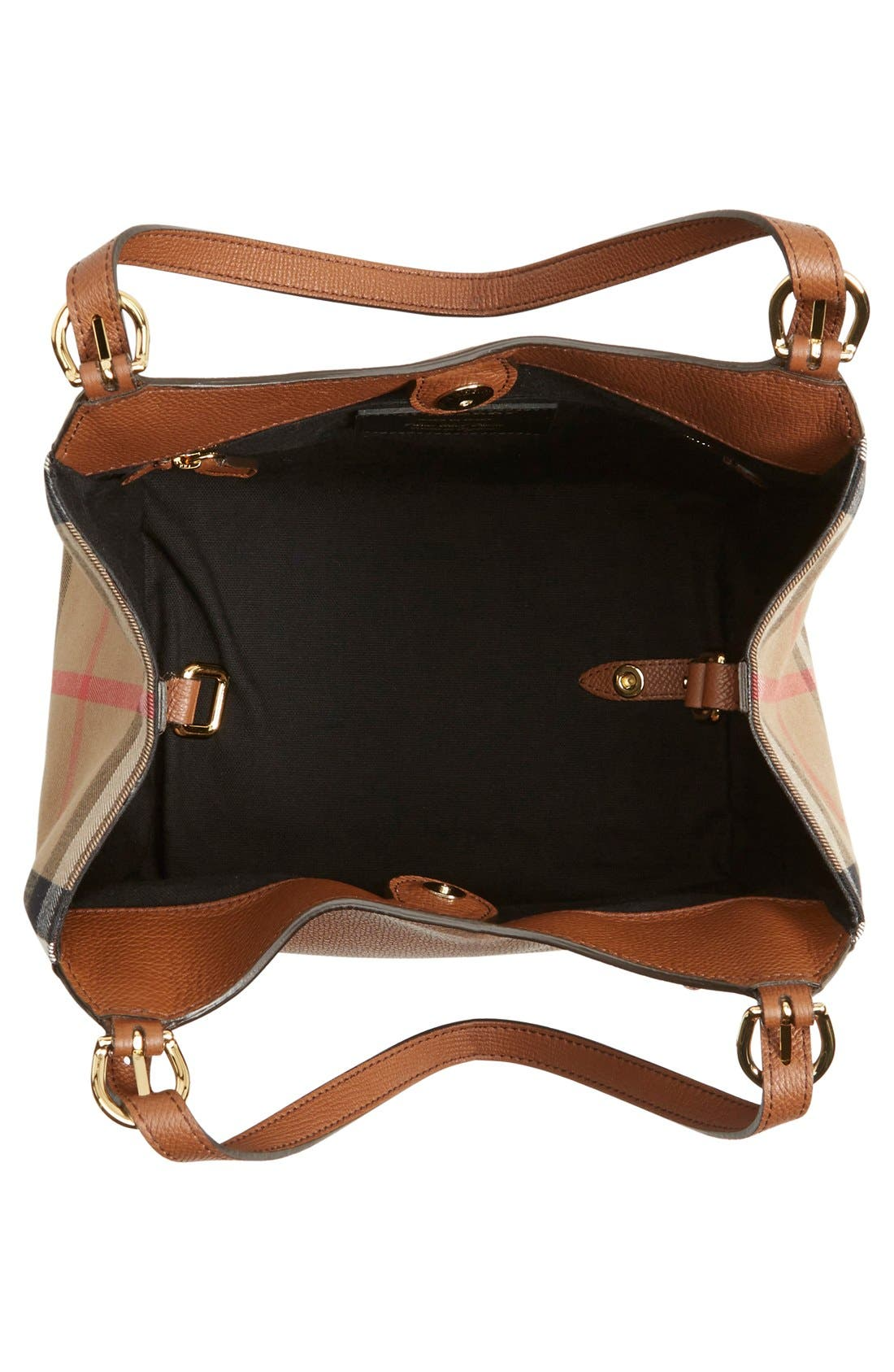Alternate Image 4  - Burberry 'Canterbury' House Check & Leather Tote