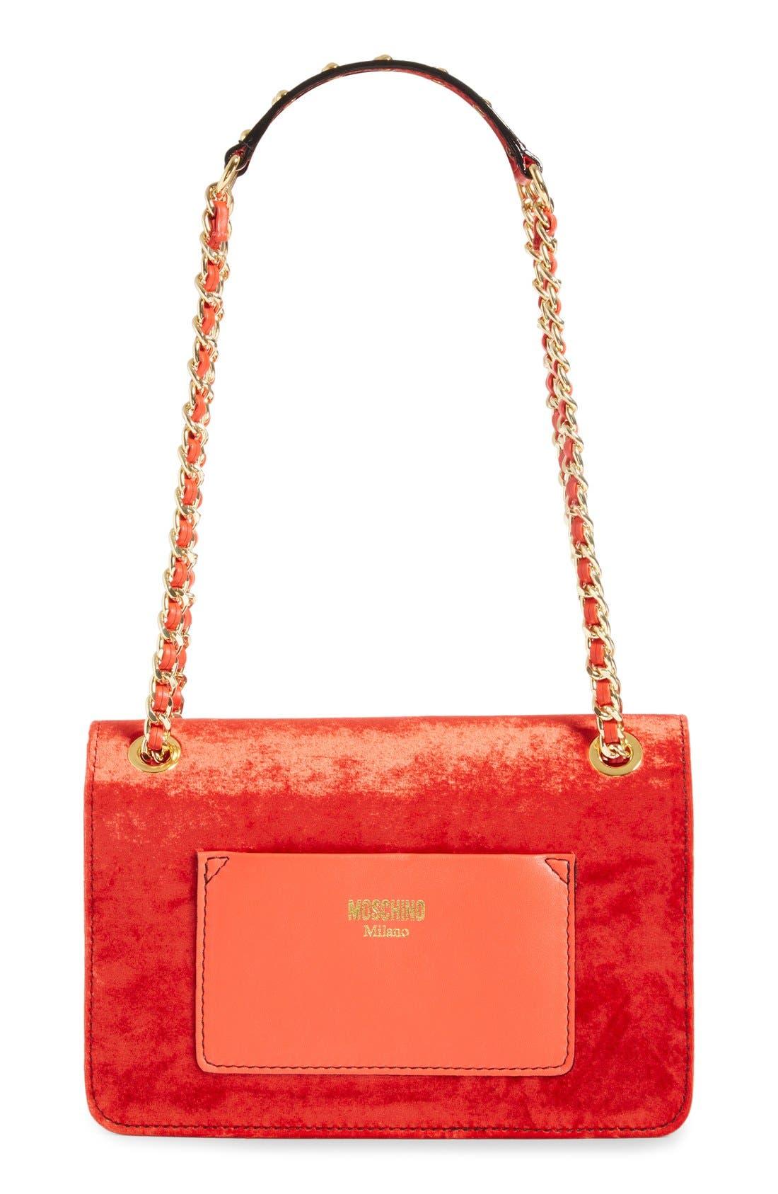Alternate Image 3  - Moschino Velvet Convertible Shoulder Bag