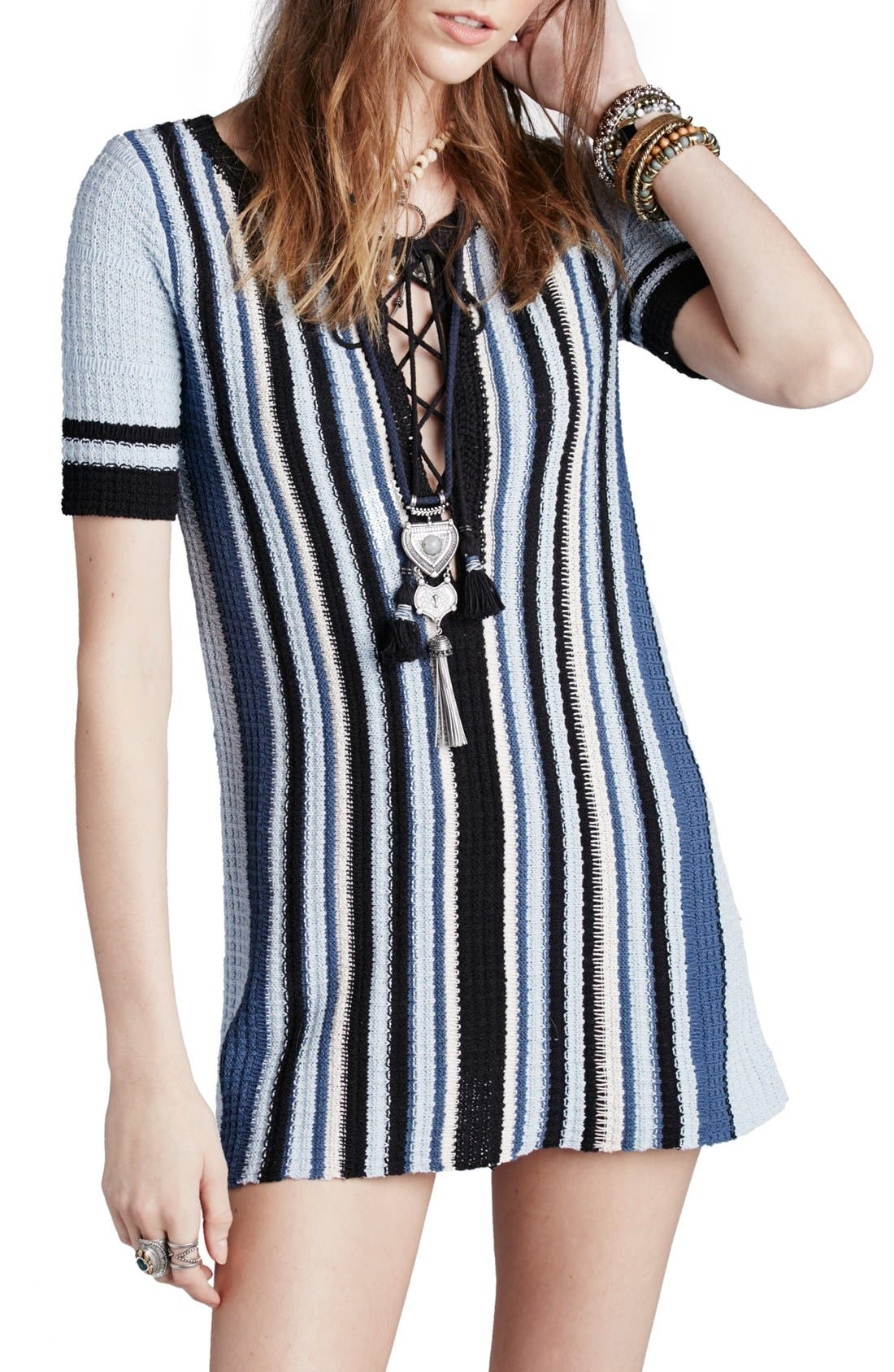 Main Image - Free People 'Lollipop' Cotton Sweater Dress