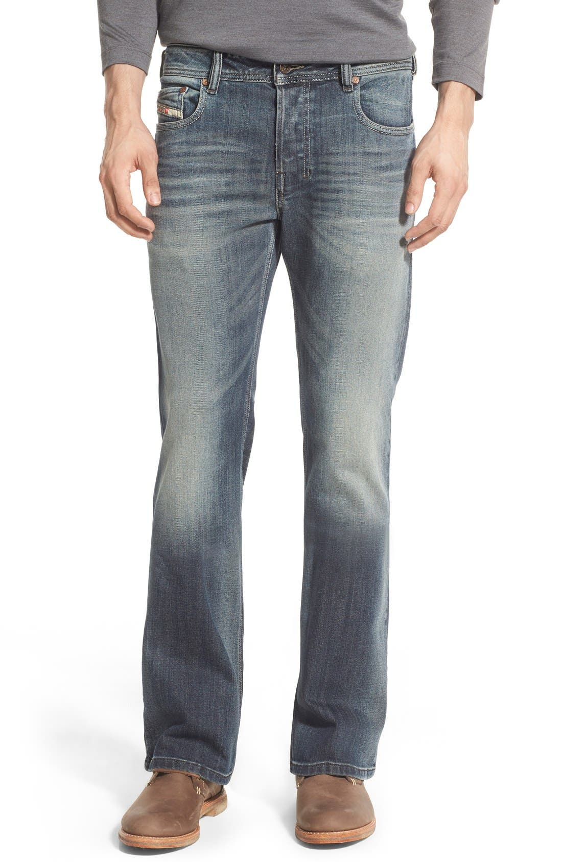 Alternate Image 1 Selected - DIESEL® 'Zathan' Bootcut Jeans (885K)