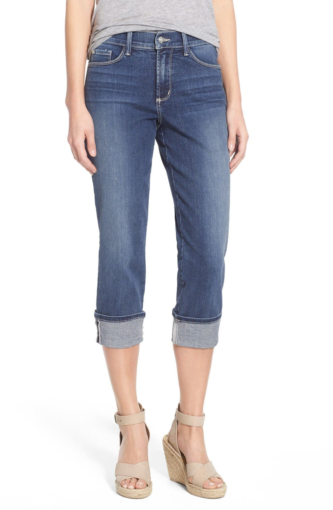NYDJ 'Dayla' Colored Wide Cuff Capri Jeans